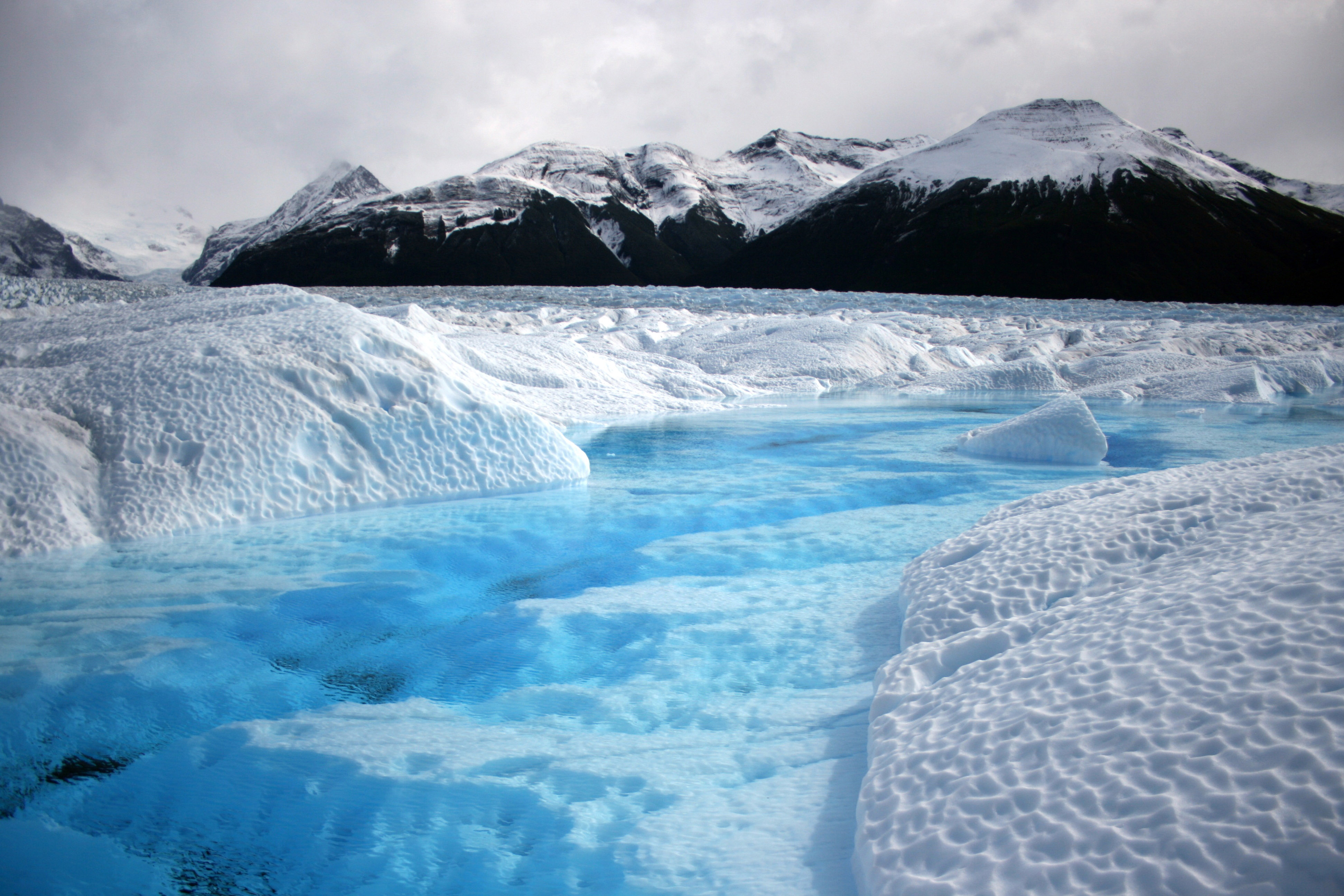 Beautiful landscape of the ice fields in Patagonia
