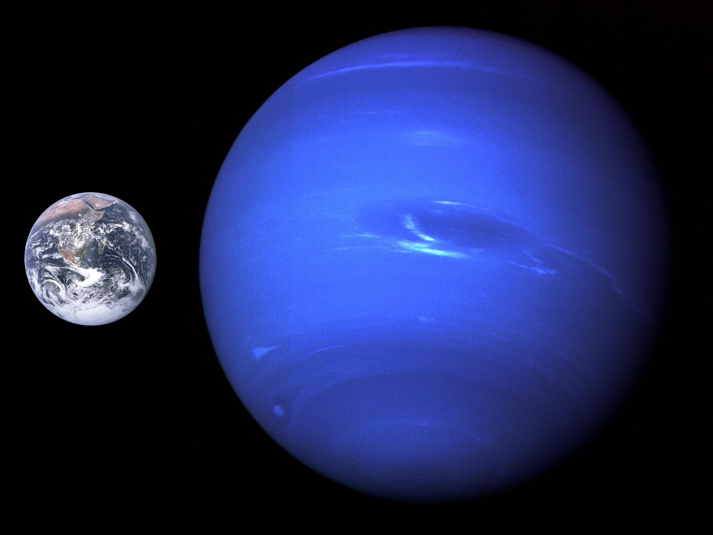 Stock Chart Comparison: Neptune Size Comparison with Earth - Free Public Domain Stock ,Chart