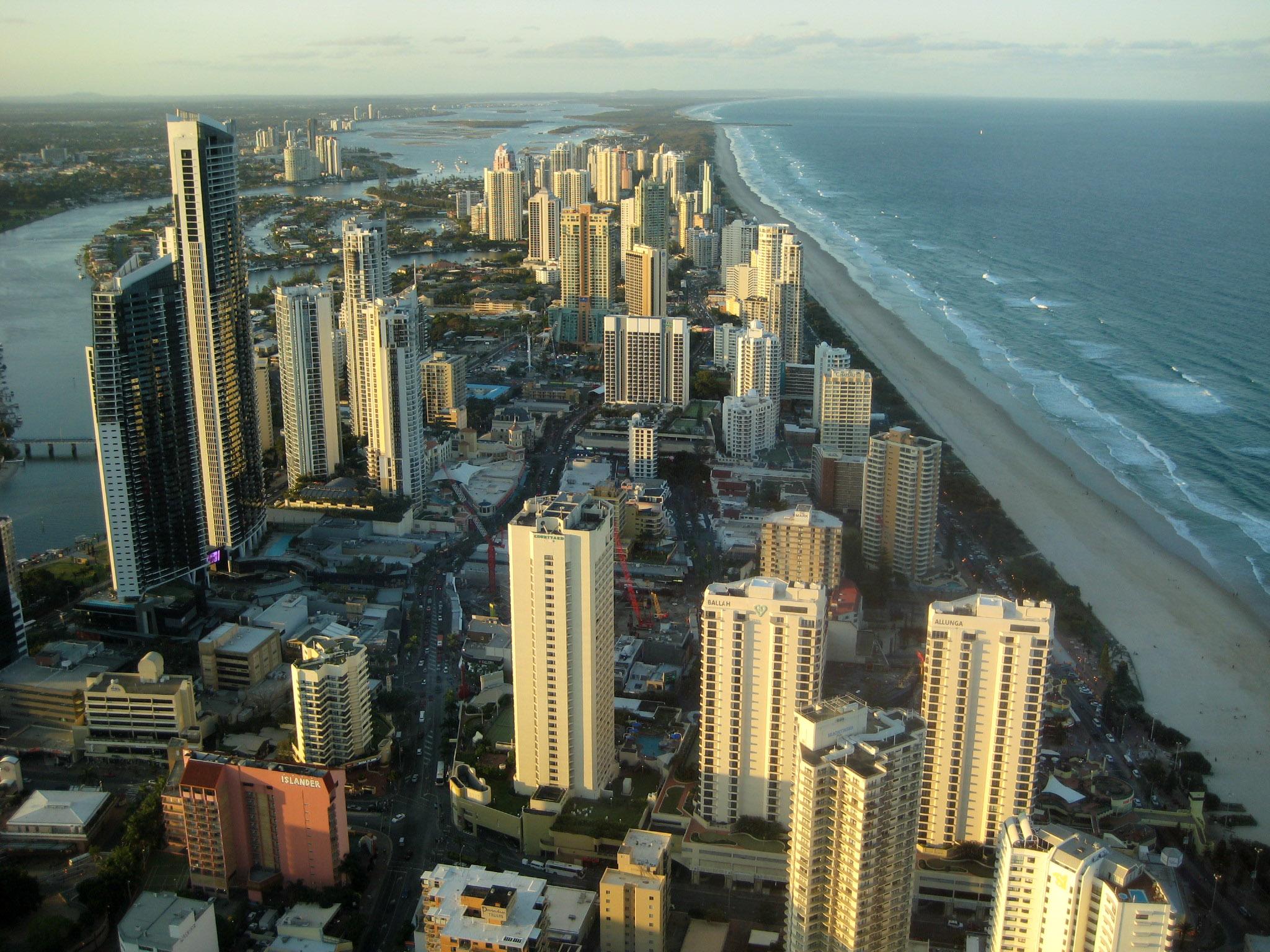 Обои Aerial, Gold Coast Skyline, queensland, Australia. Города foto 16