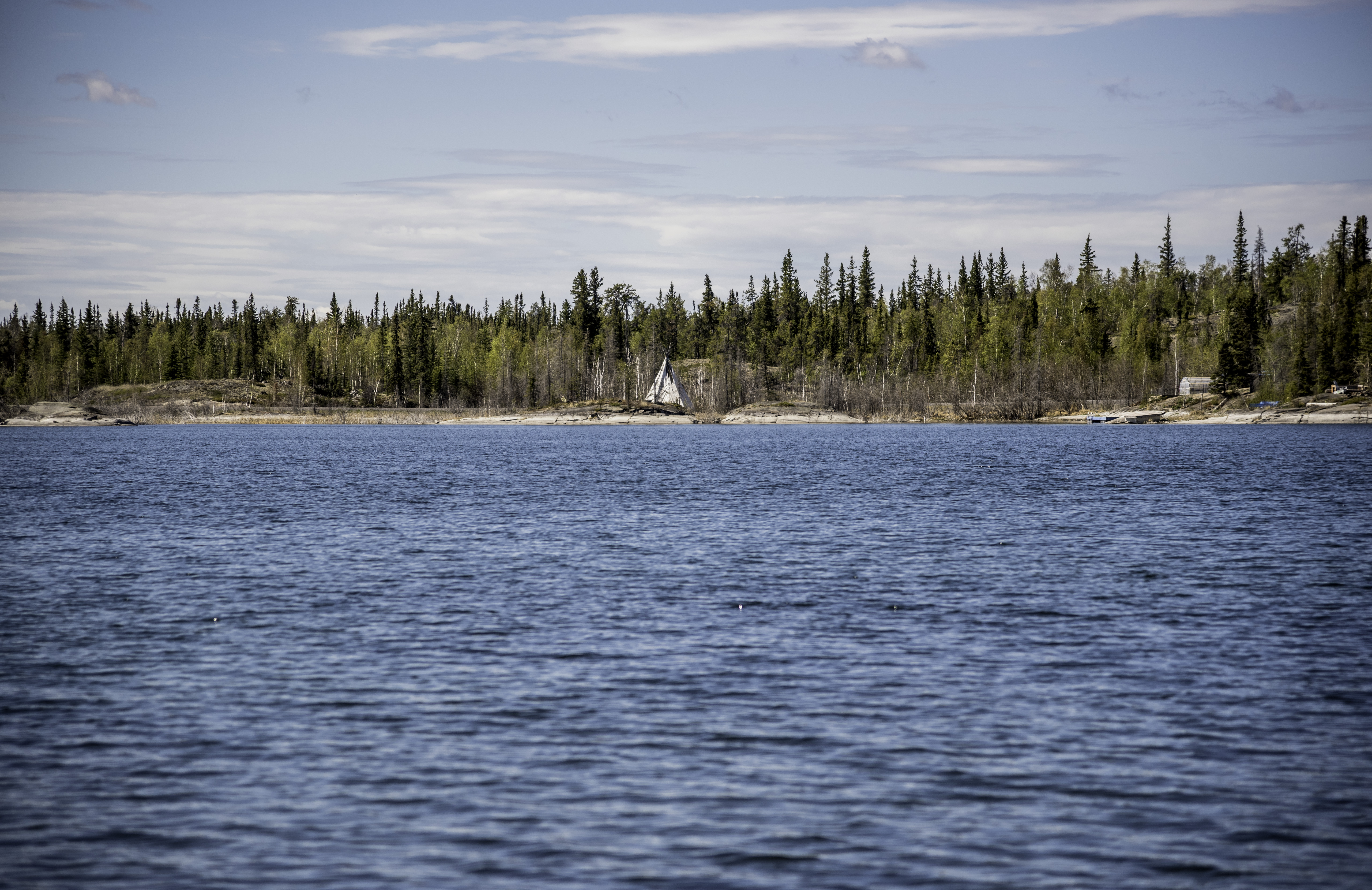 Tent on the other side of the lake on the Ingraham Trail Northwest Territories. & Free Stock Photo of Tent on the other side of the lake on the ...