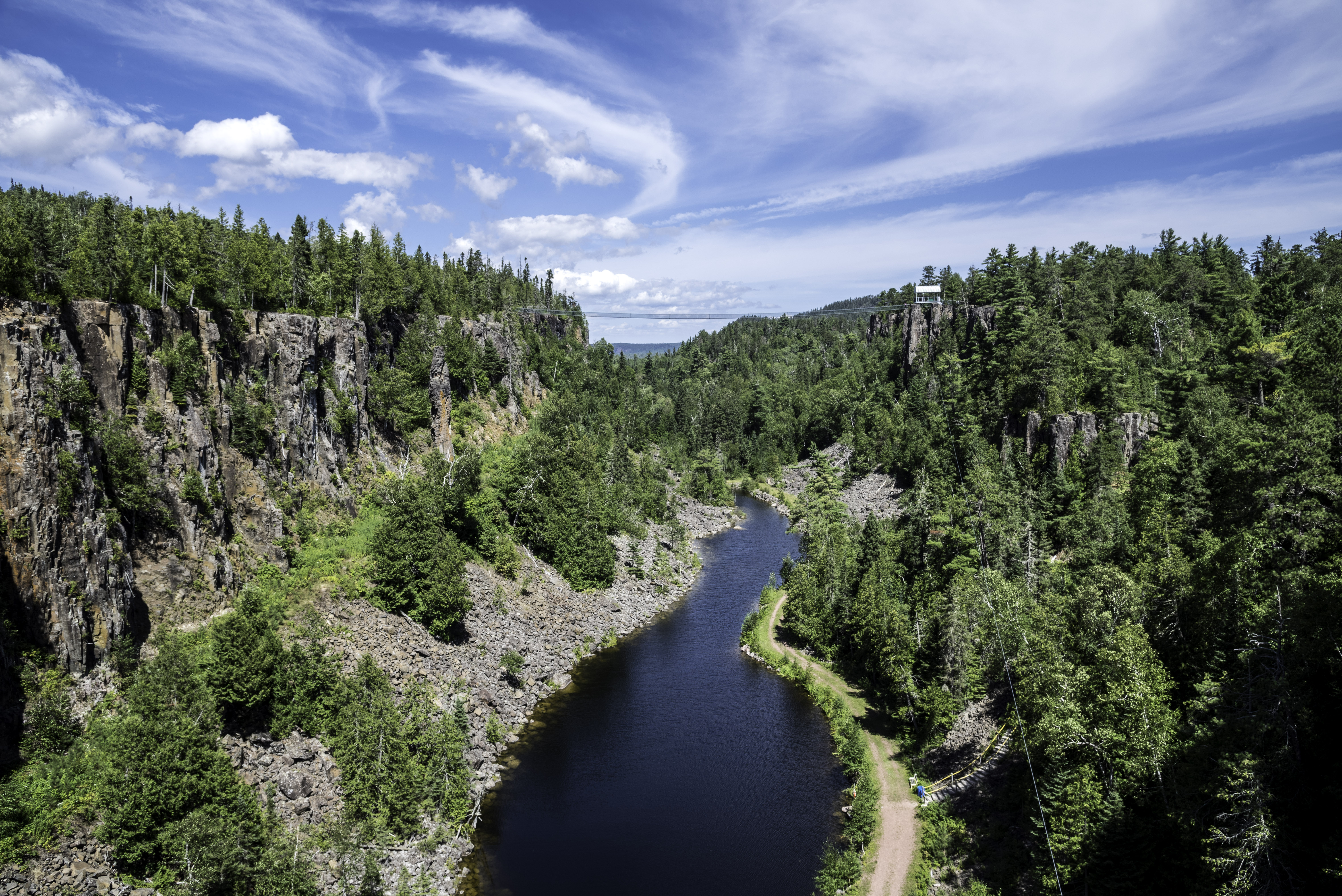 ontario map canadian scenery scenic and river