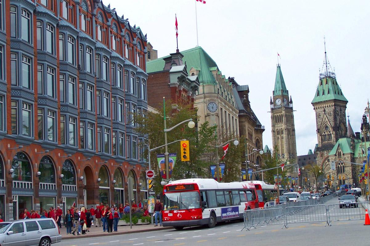 Ontario Canada Downtown Elgin Street in...