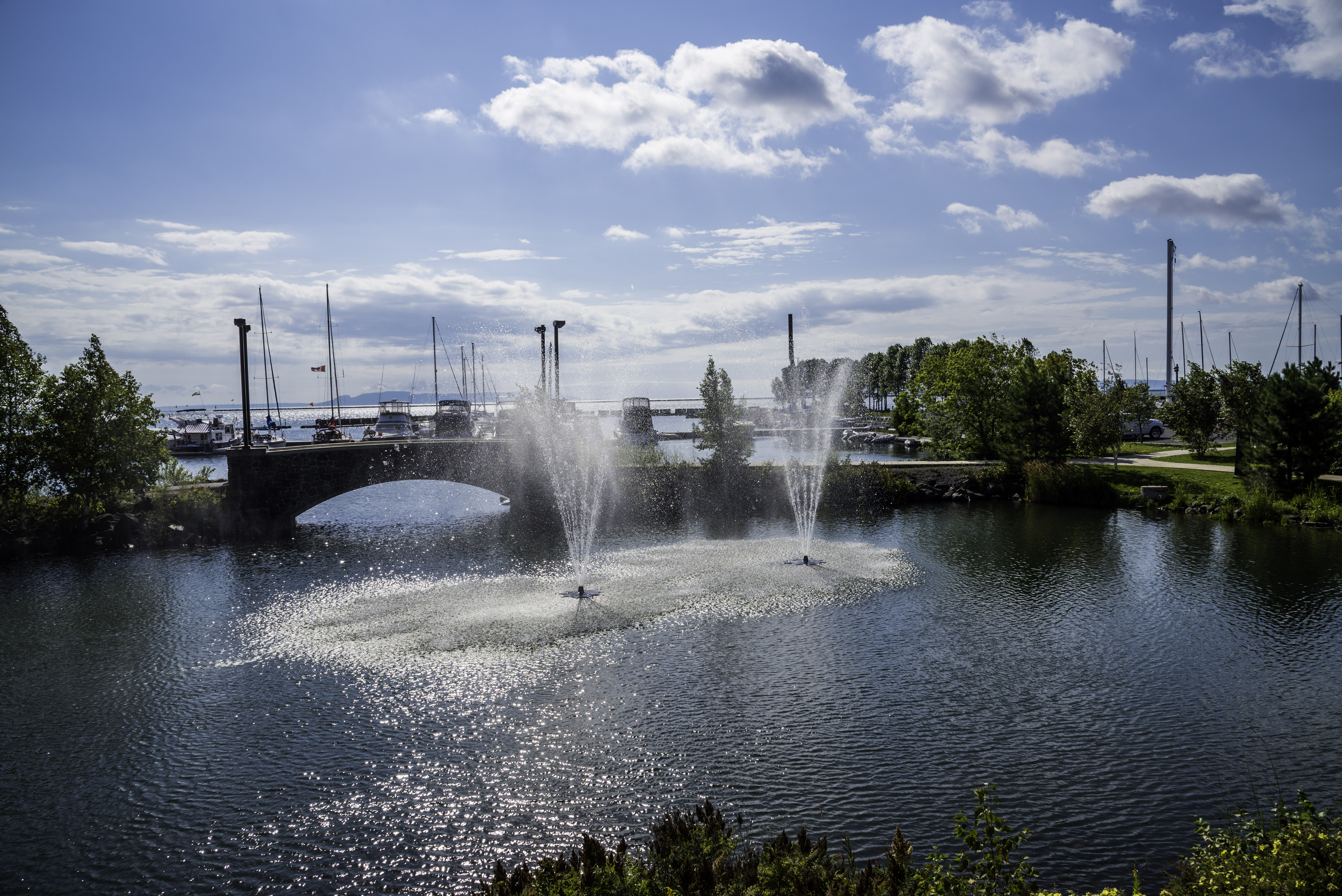 Water fountains canada - Water Fountains In The Water Garden In Thunder Bay Ontario Canada