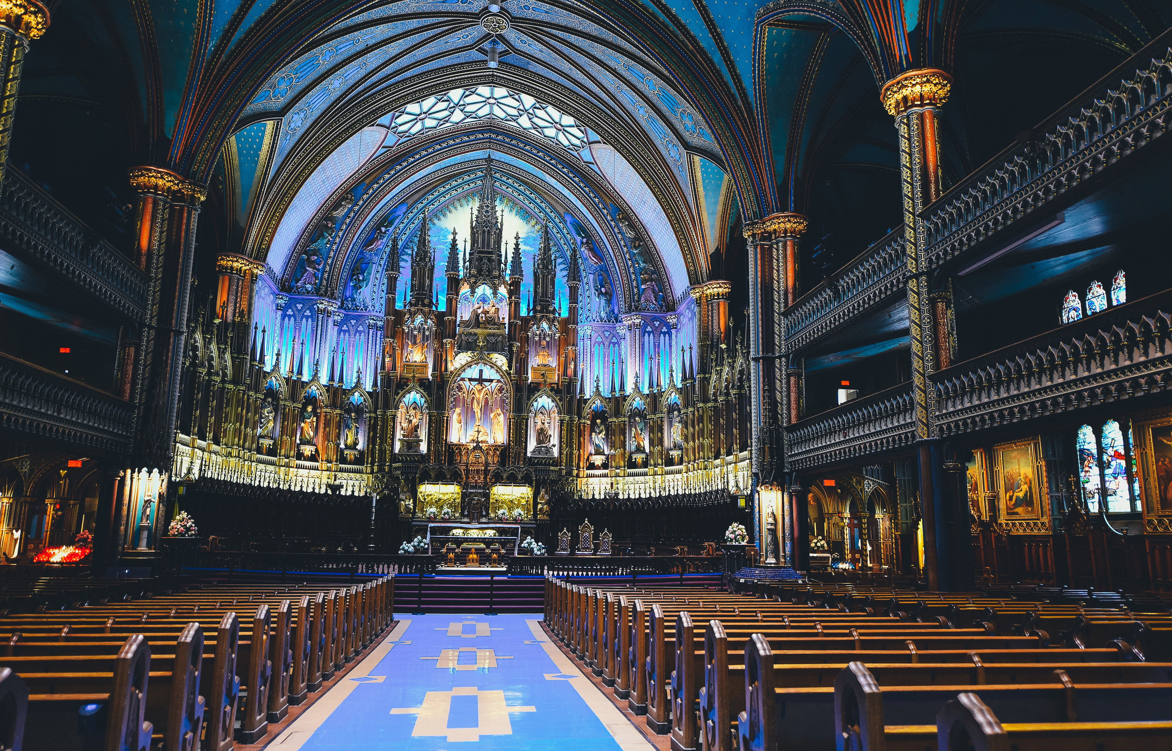 Notre Dame Cathedral of Montreal, Quebec, Canada image - Free ...