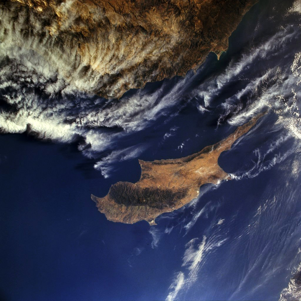 Satellite Image Of Cyprus Image