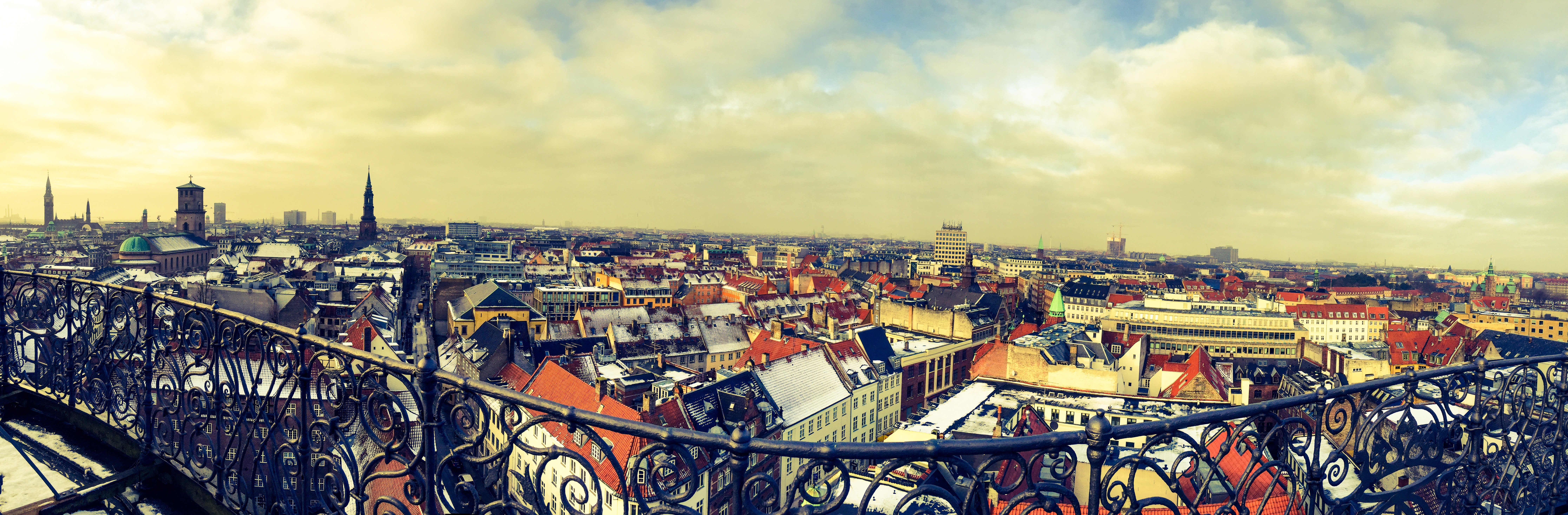 Free stock photo of view of copenhagen from the balcony for From the balcony