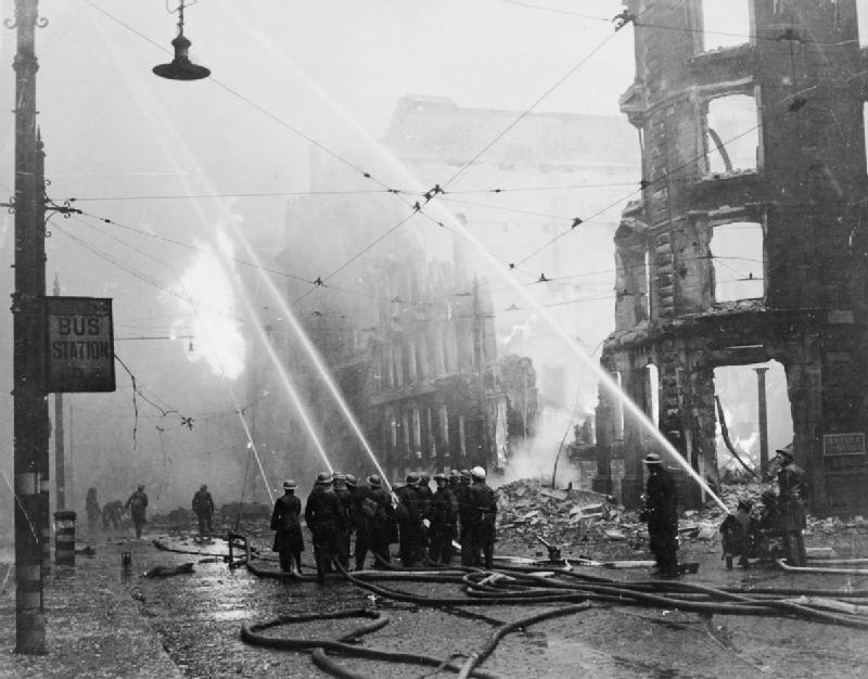 Bombing Of Manchester During World War Ii Image Free