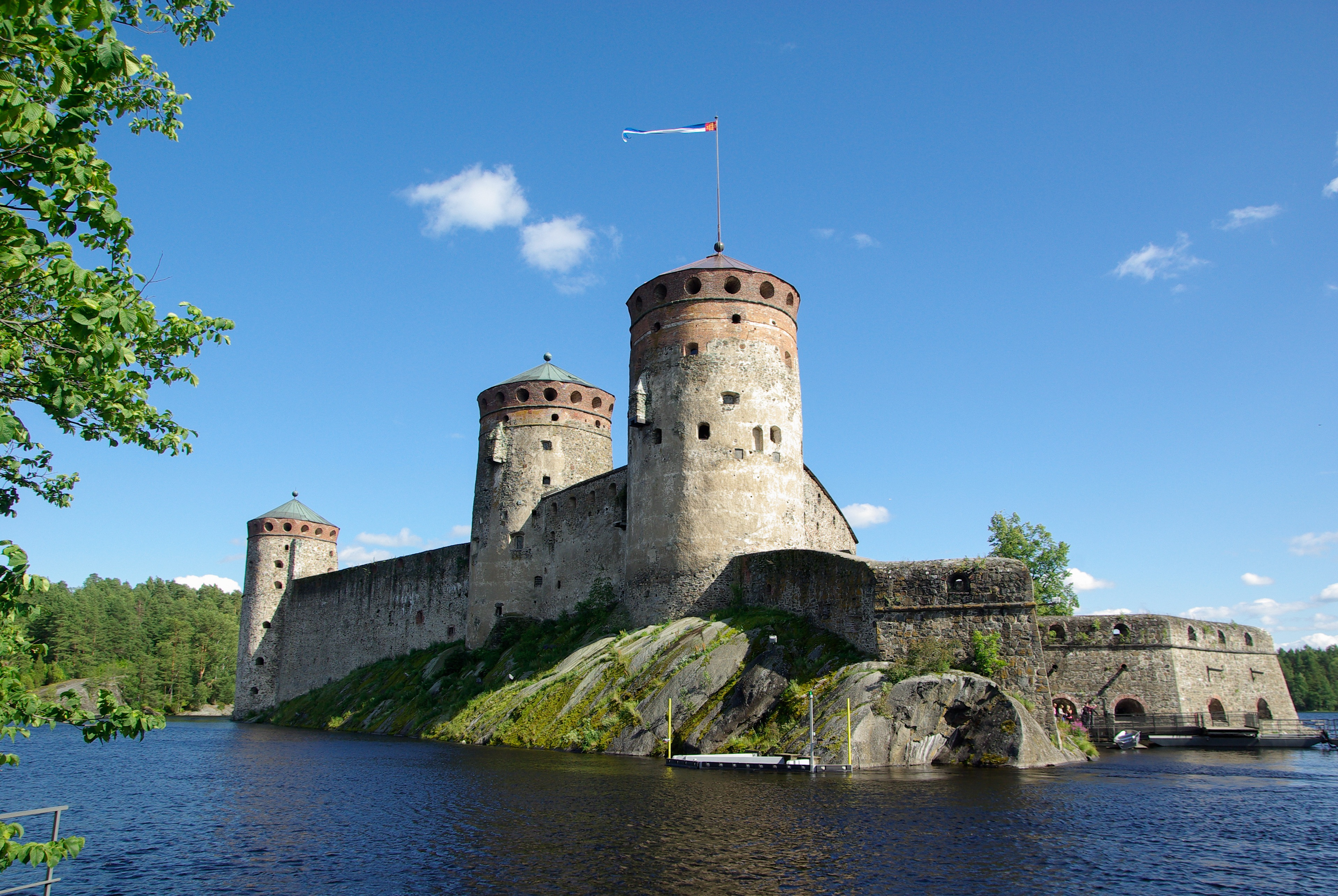 fortress in savonlinna finland image   free stock photo
