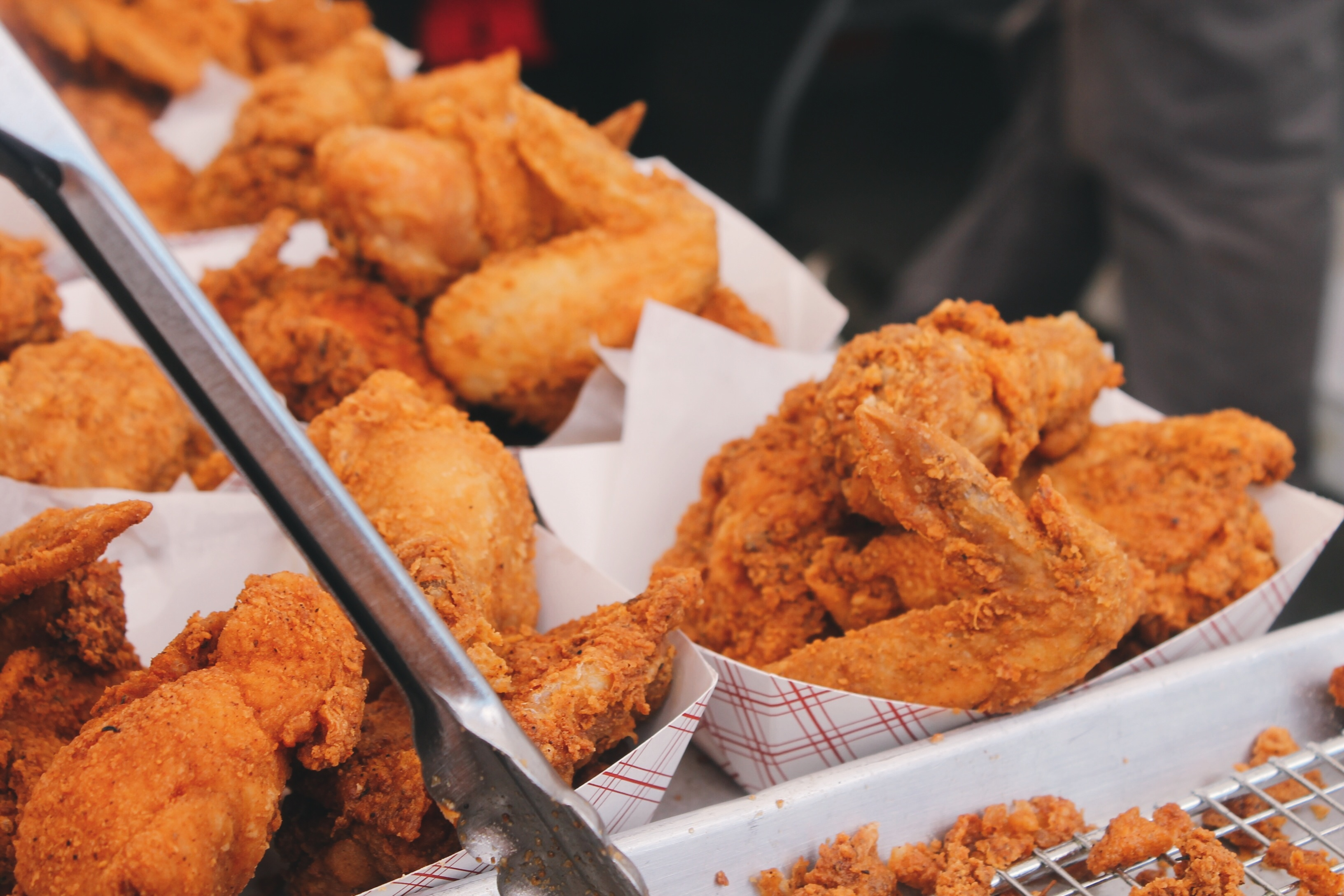 fried chicken in baskets