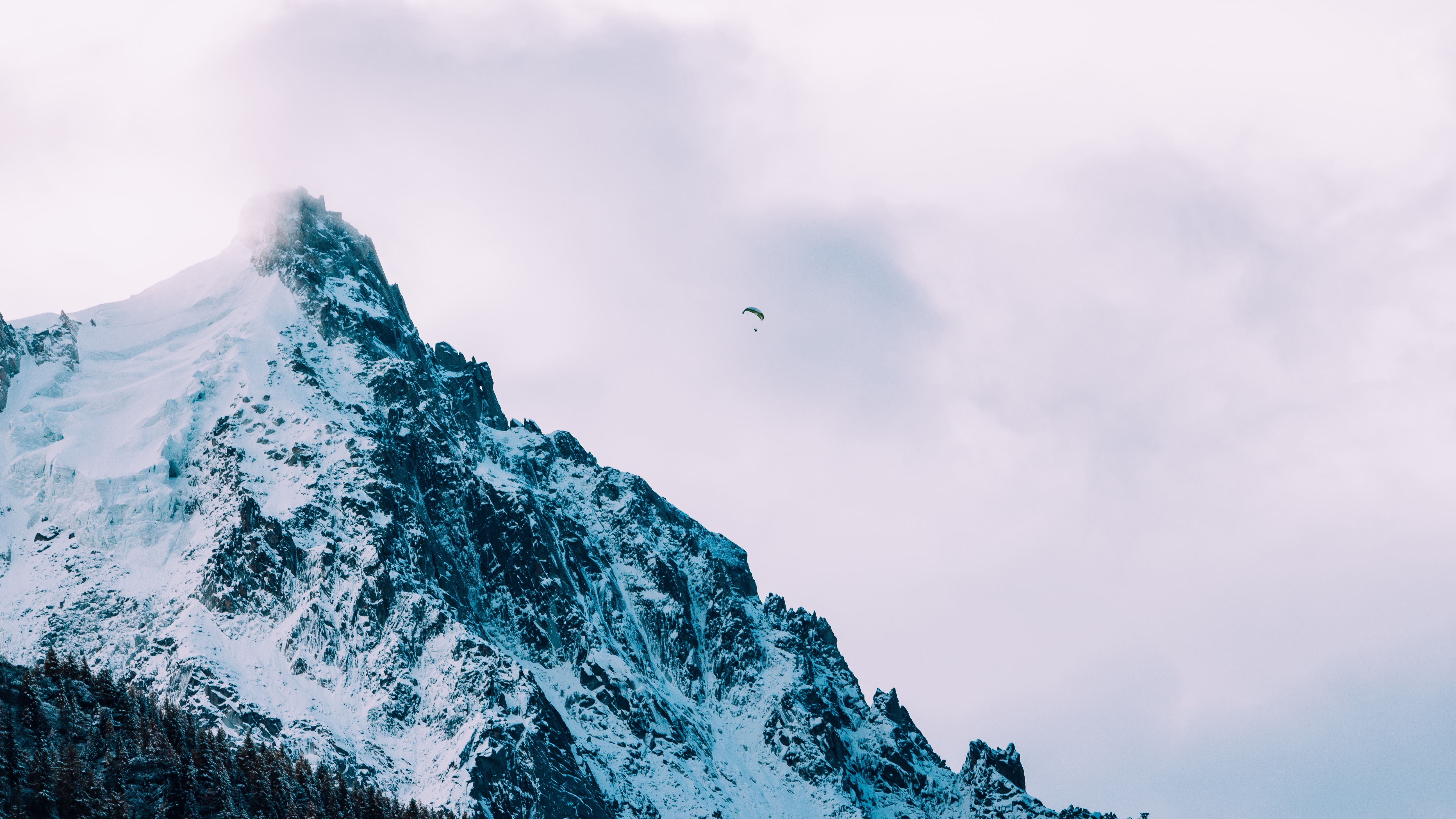 Photo by Alexander Chamon . A view of the French side of Chamonix Mont ...