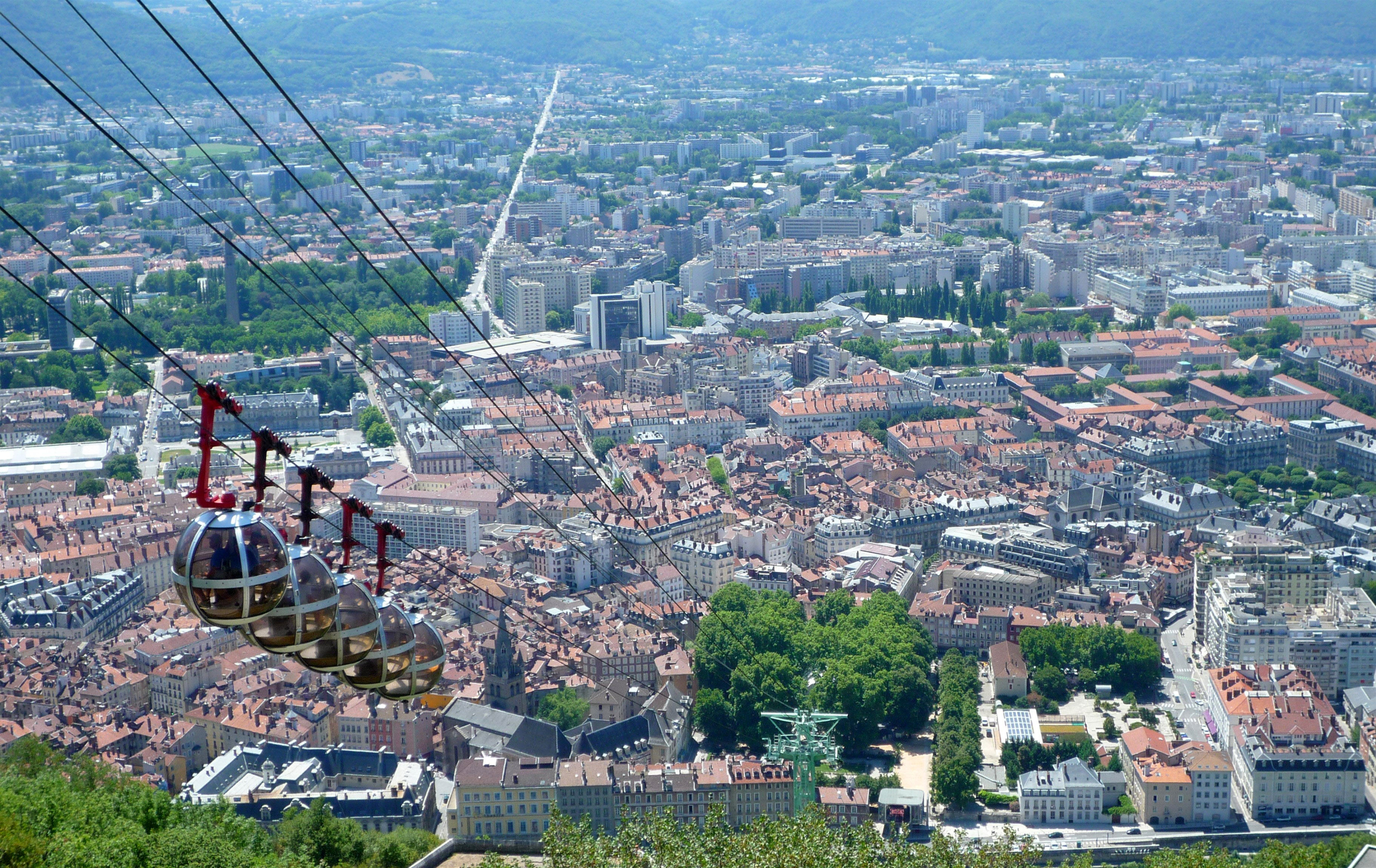 cable cars in cityscape in grenoble france image free stock photo public domain photo cc0. Black Bedroom Furniture Sets. Home Design Ideas