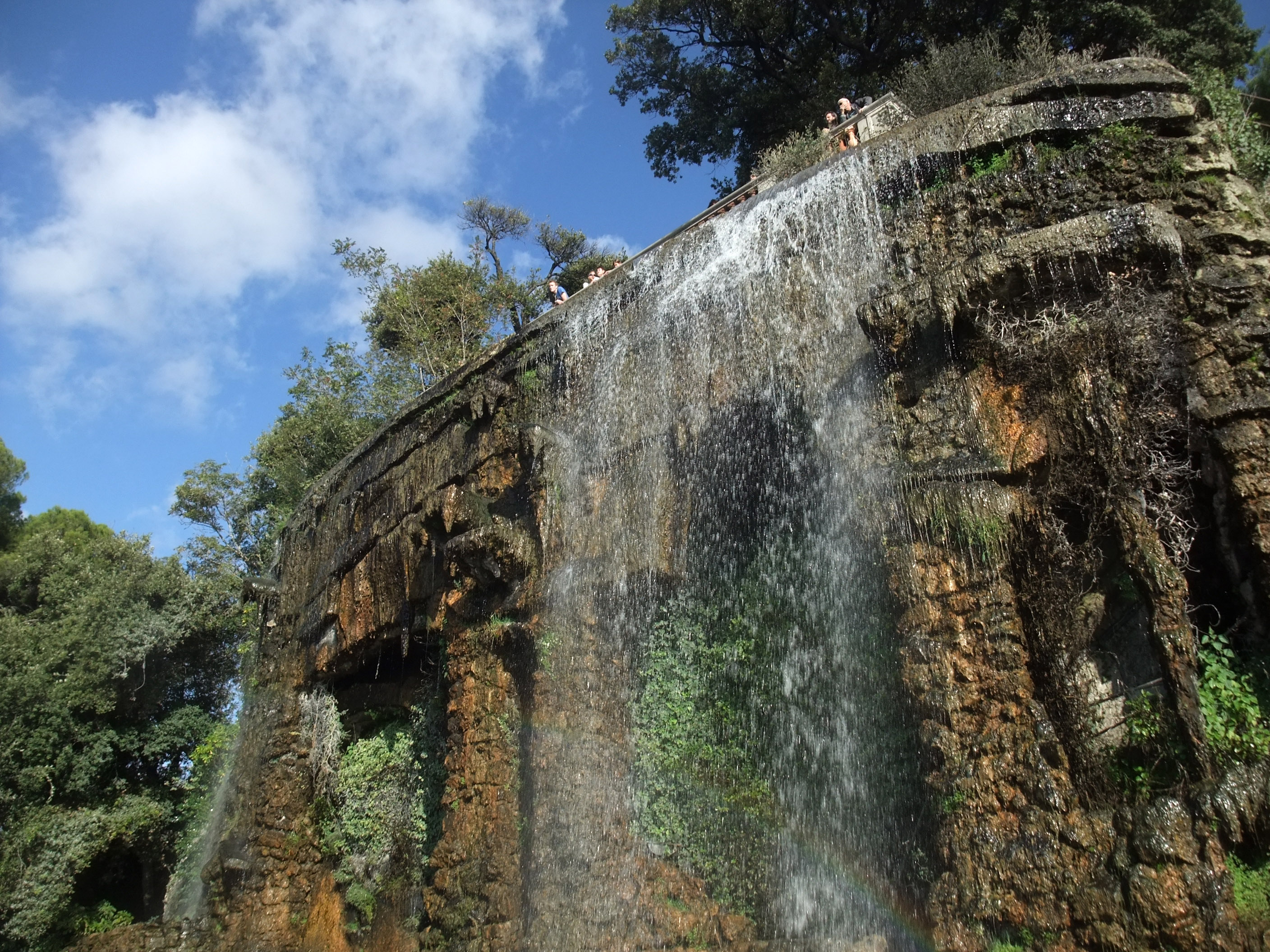 The Waterfall On The Colline Du Château In Nice, France