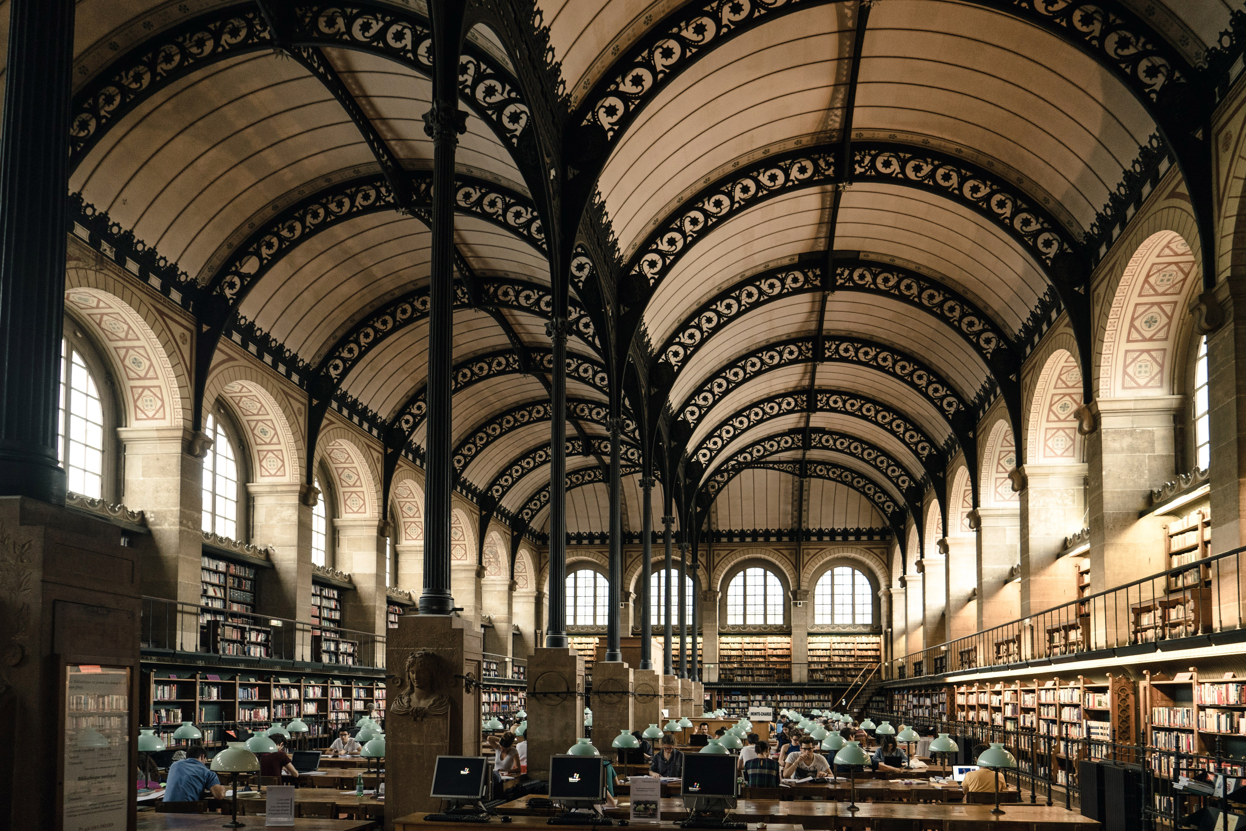 Library Interior in Paris, France image - Free stock photo