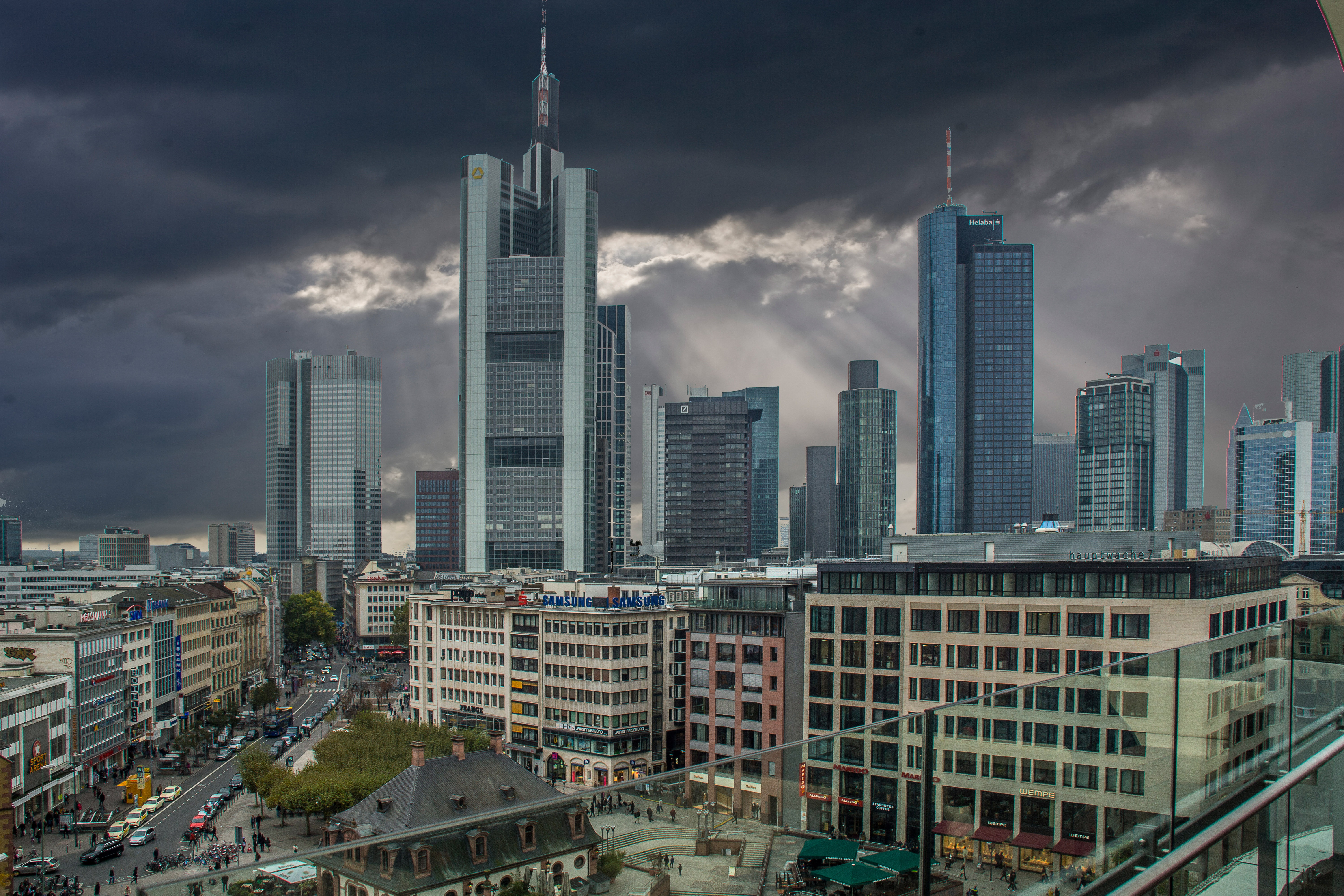 tall buildings in frankfurt image - free stock photo - public domain photo