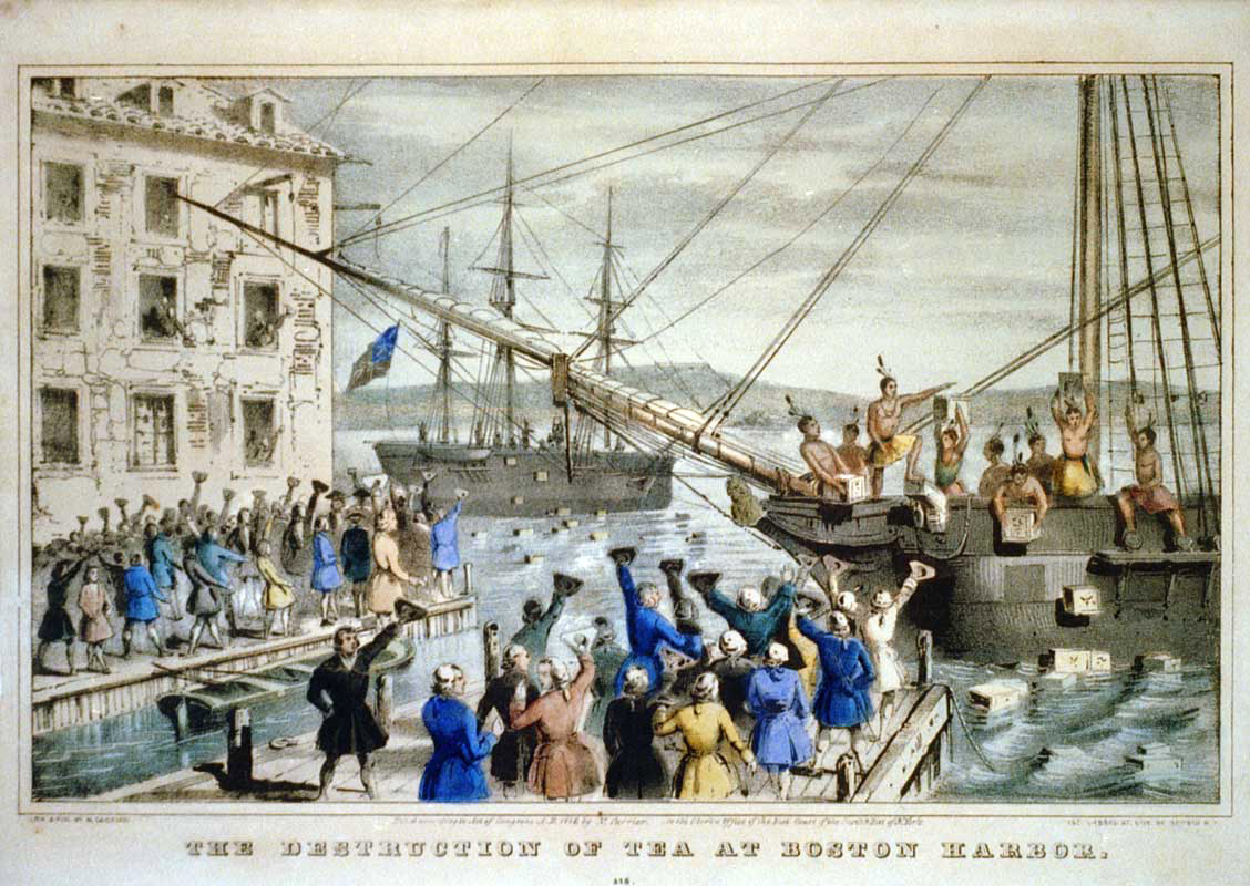 an analysis of the american revolution and the boston tea party The boston tea party is an important part of america's history a series of events led to the american revolution.