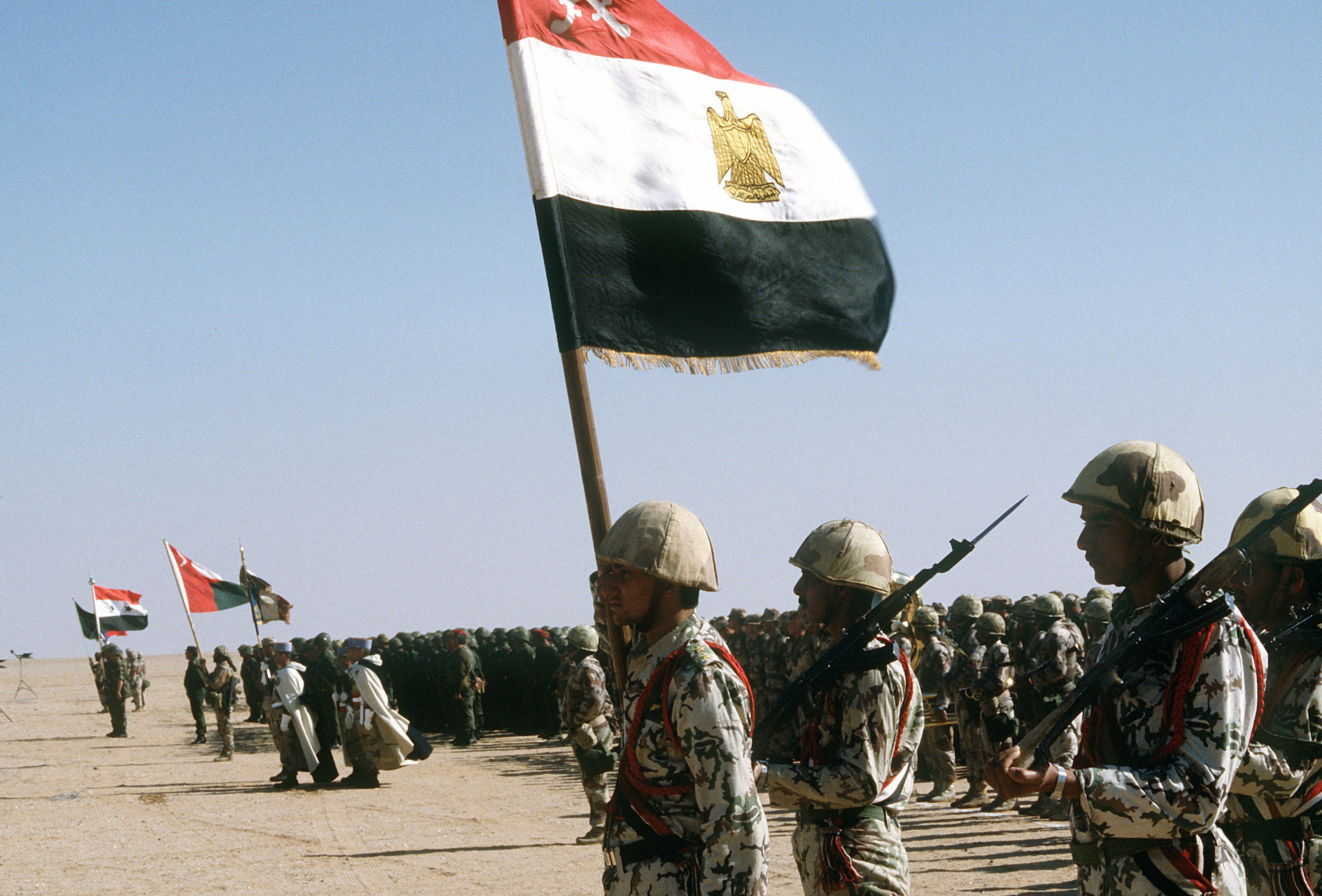 Coalition Troops From Egypt Syria Oman France And Kuwait During Operation Desert Storm Image