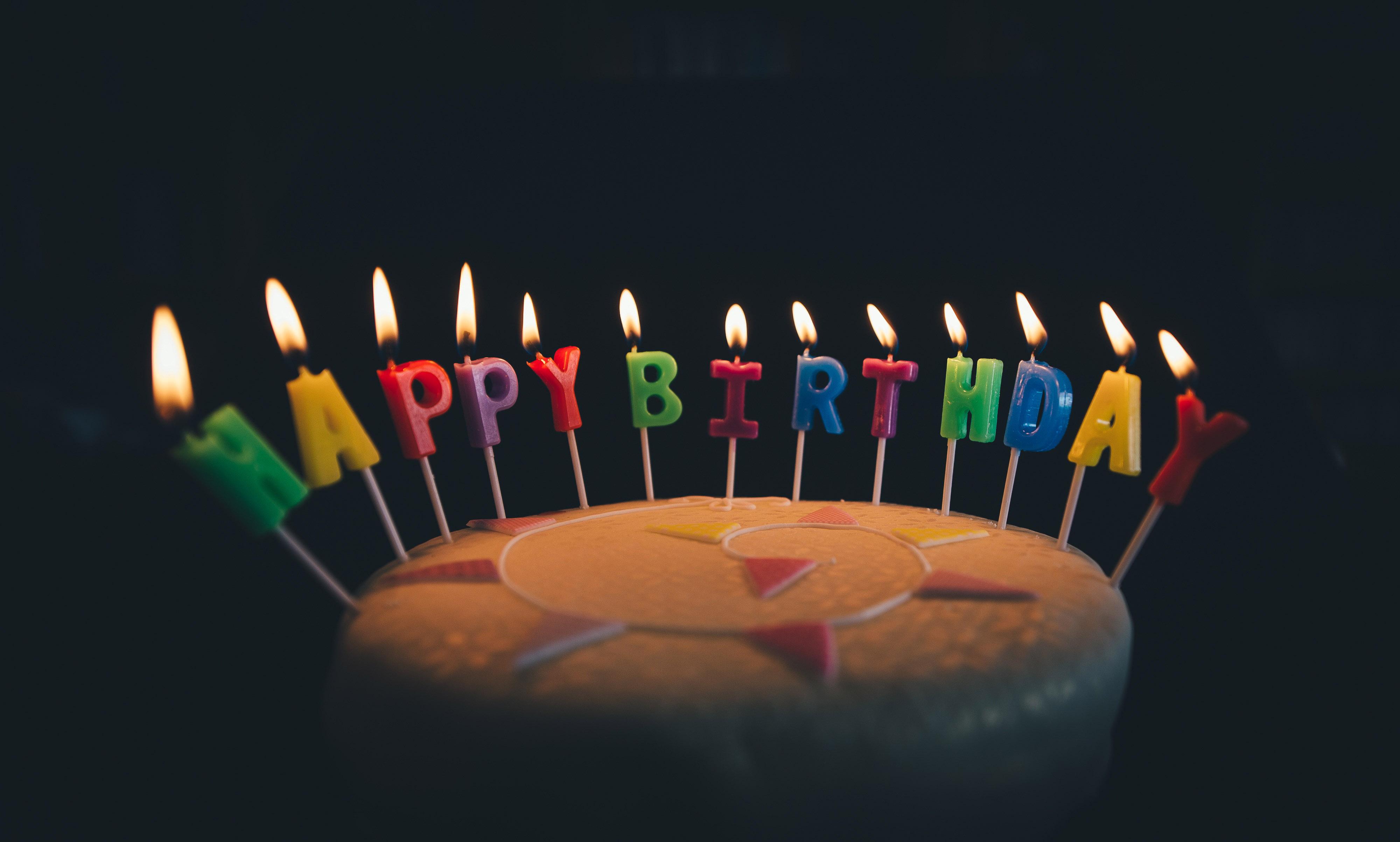 Happy Birthday Pixelated Cake