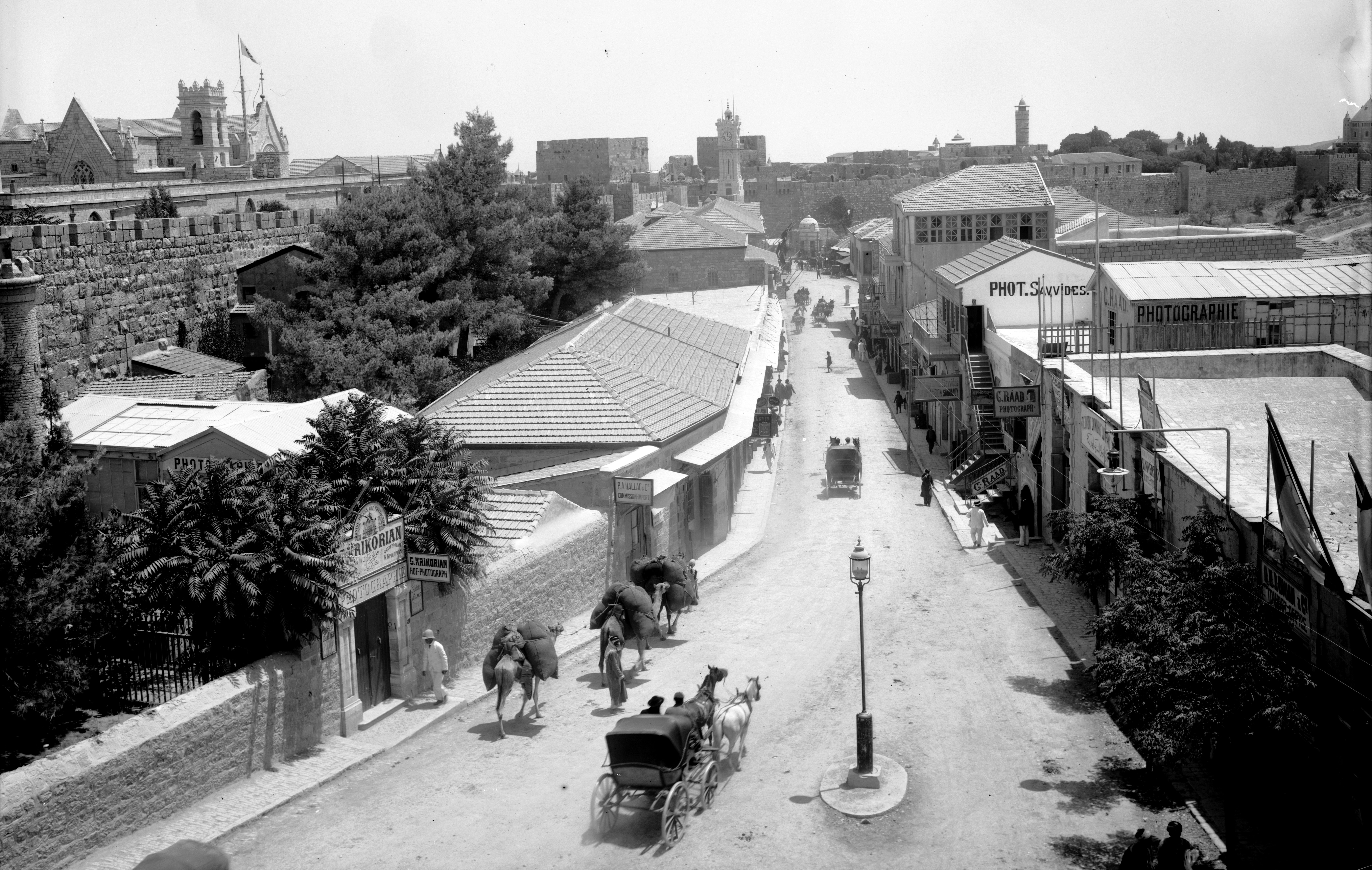 Jaffa Road In The 19th Century In Jerusalem Israel Image