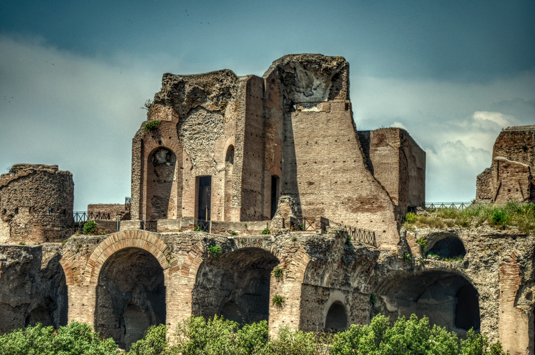 Ruins Of The Flavian Palace Image Free Stock Photo