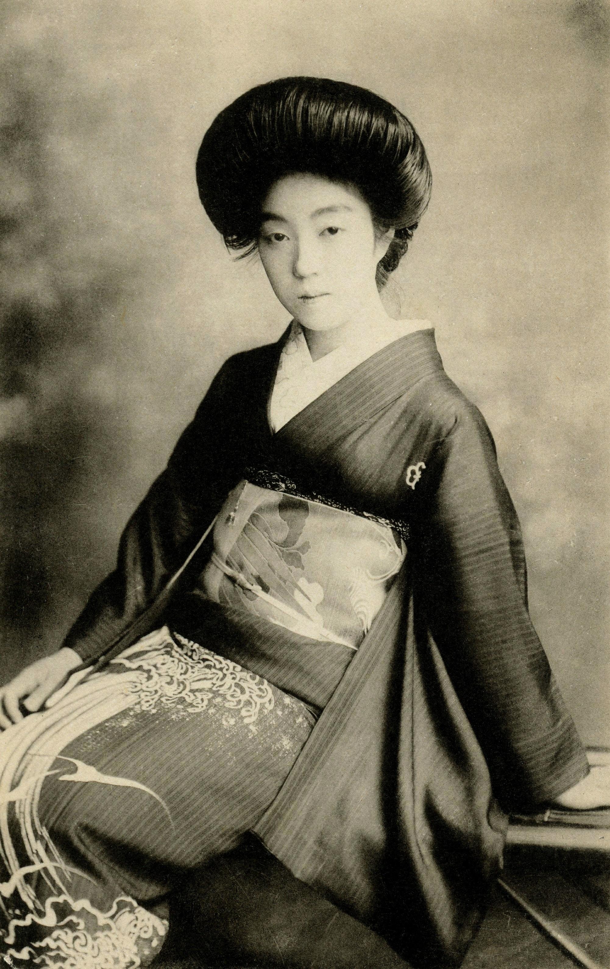 Vintage Geisha Photo image - Free stock photo - Public