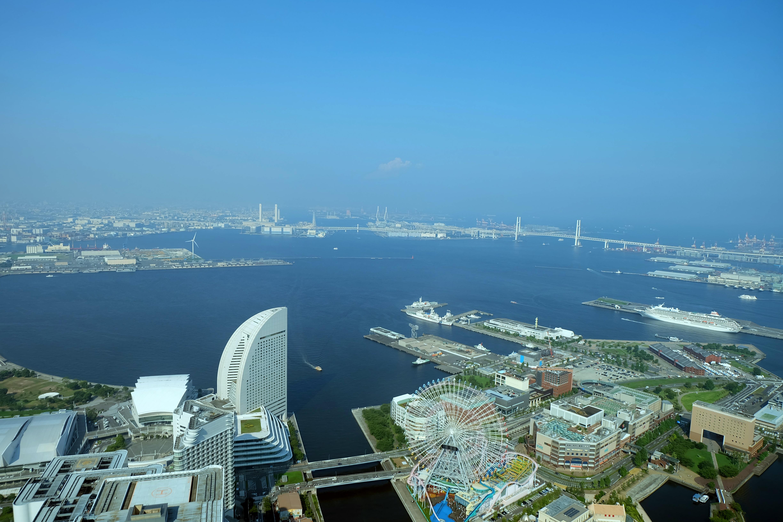 scenic view of yokohama bay in japan image free stock photo public domain photo