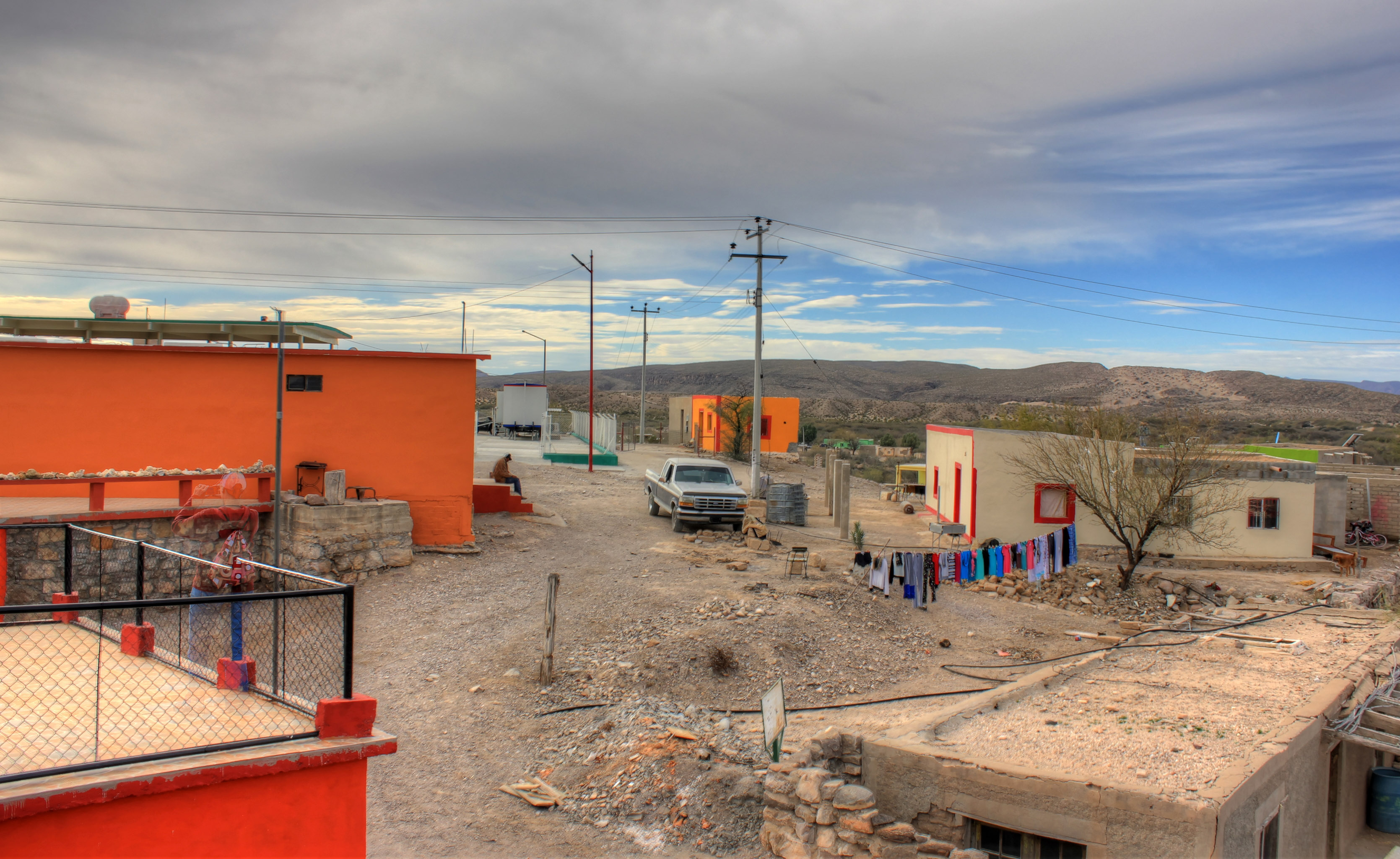 Houses in the town at Boquilla Del Carmen, Coahuila, Mexico - Free ...