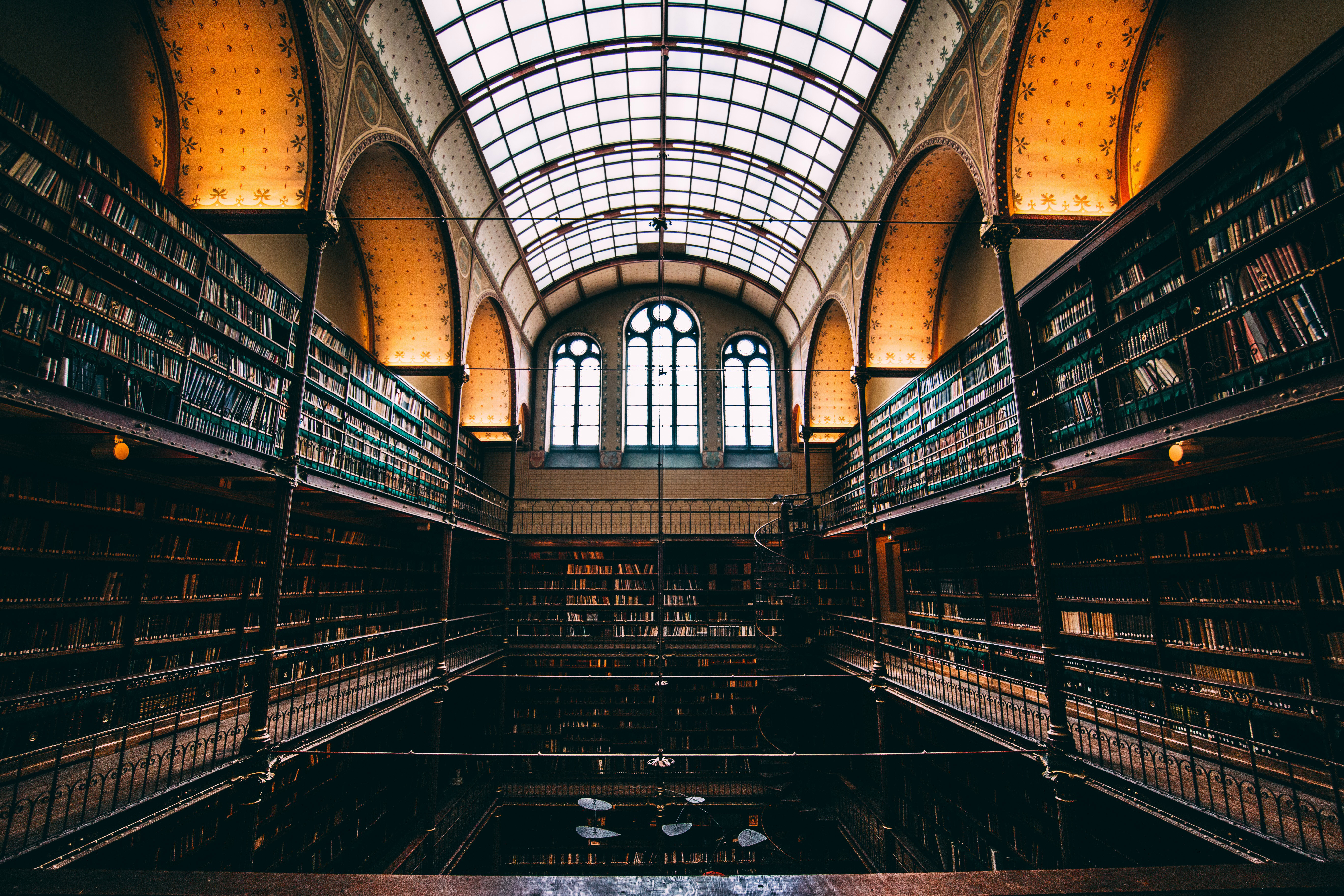 Big Library in Amsterdam, Netherlands image - Free stock