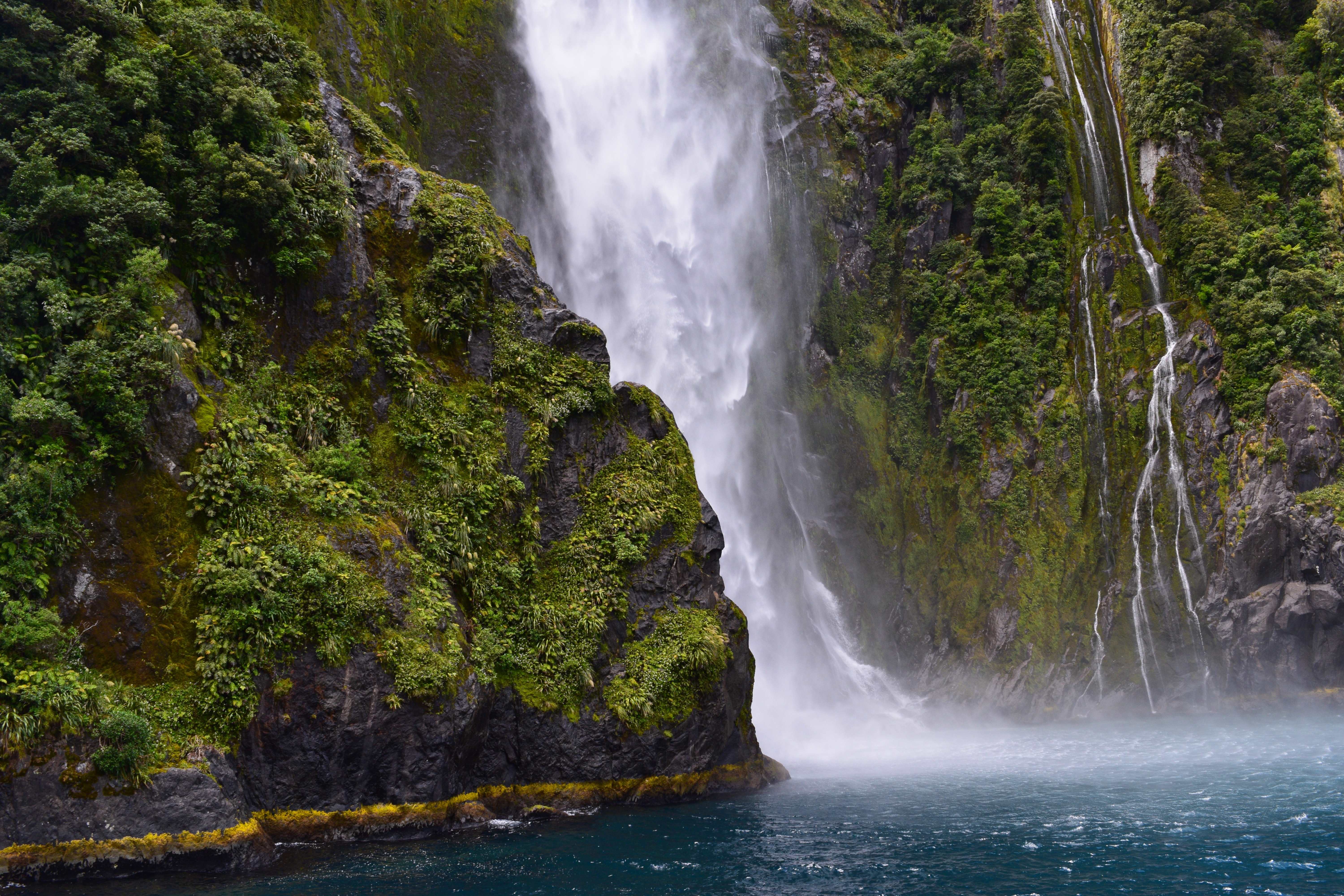 Waterfall Scenery And Landscape In New Zealand Image