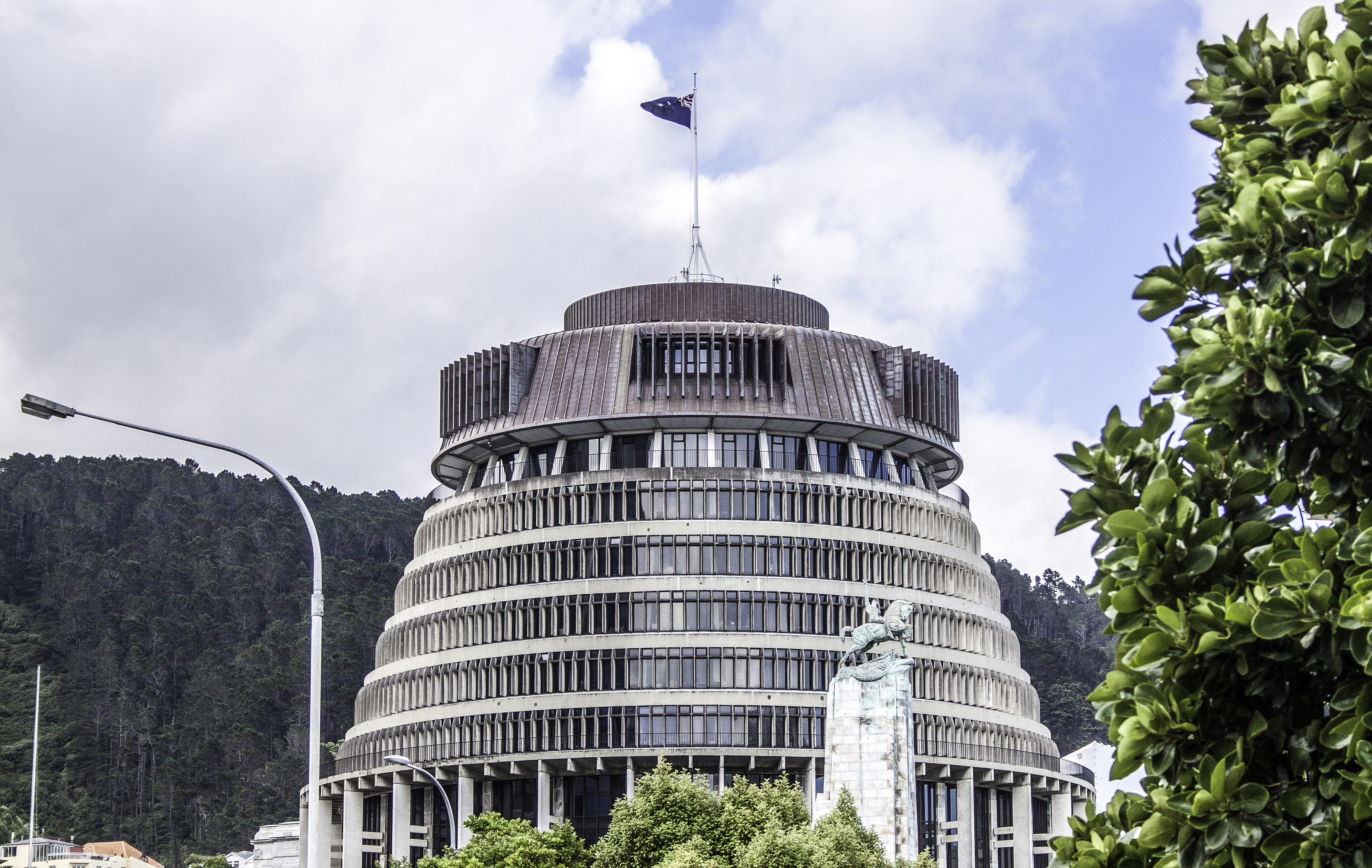 Beehive Building In Wellington New Zealand Image Free