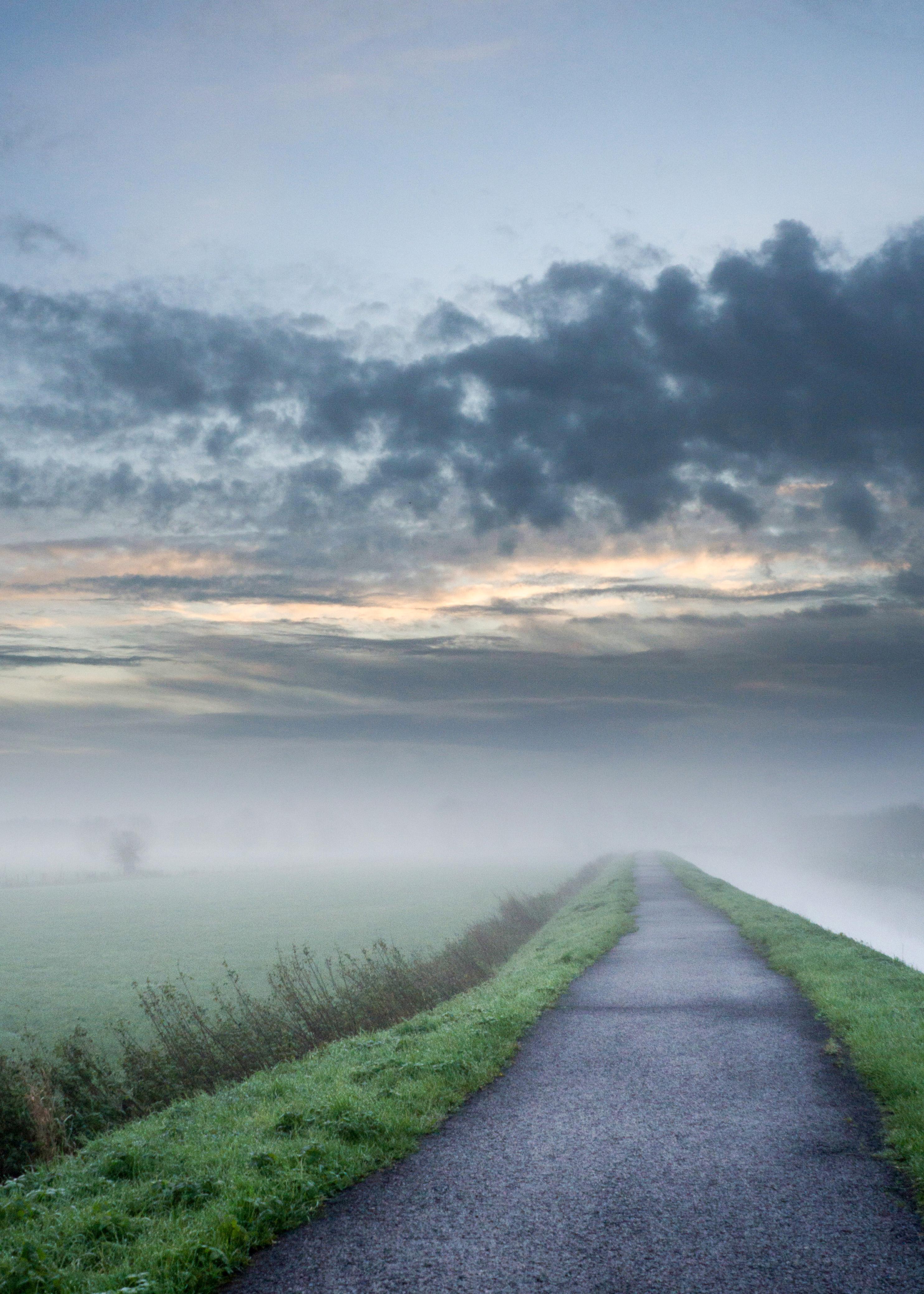 Foggy Path Landscape Image Free Stock Photo Public