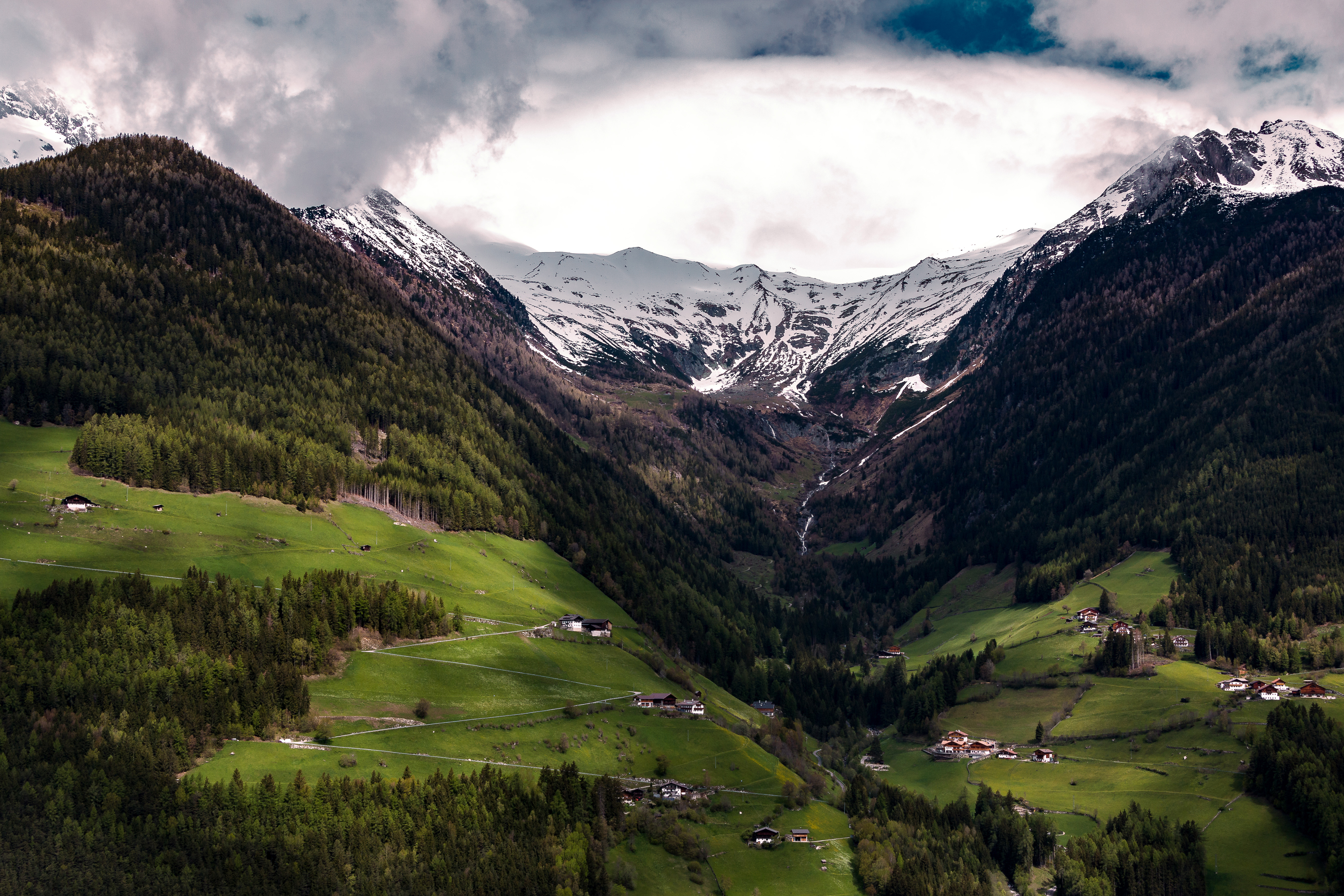 majestic mountain landscape with valley below image free