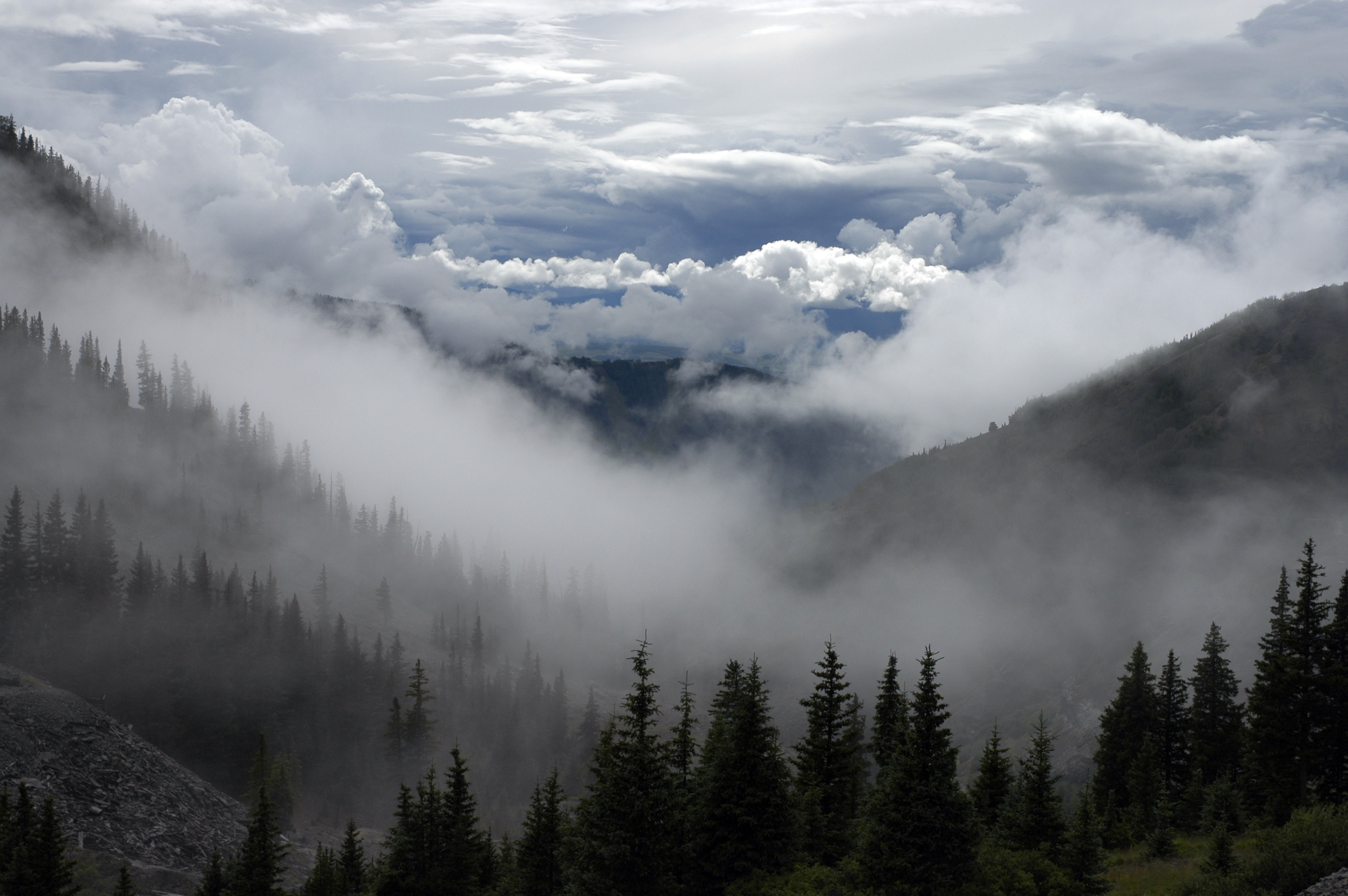 mountain landscape with clouds image free stock photo public