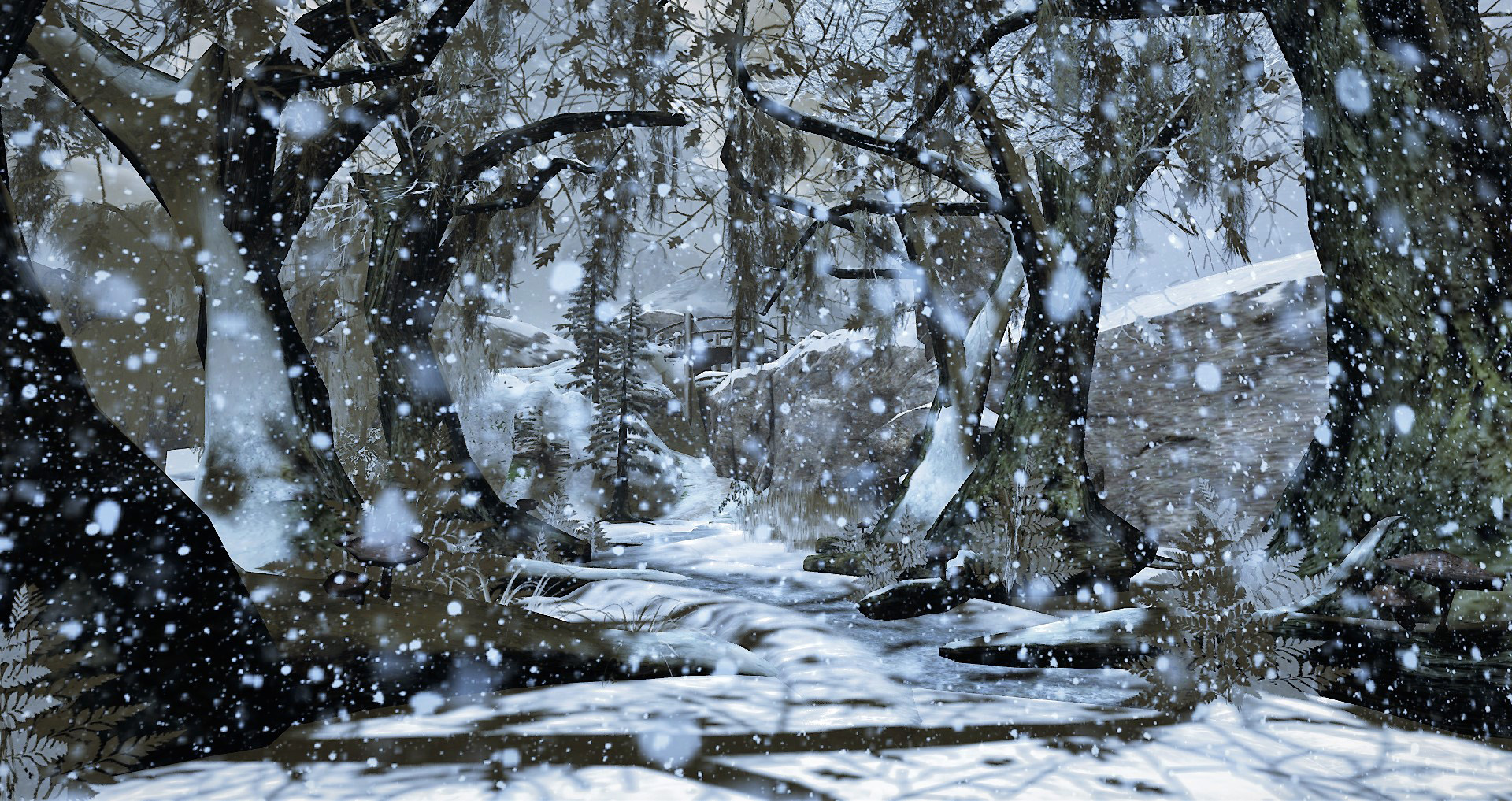 Image result for snowy night public domain illustration