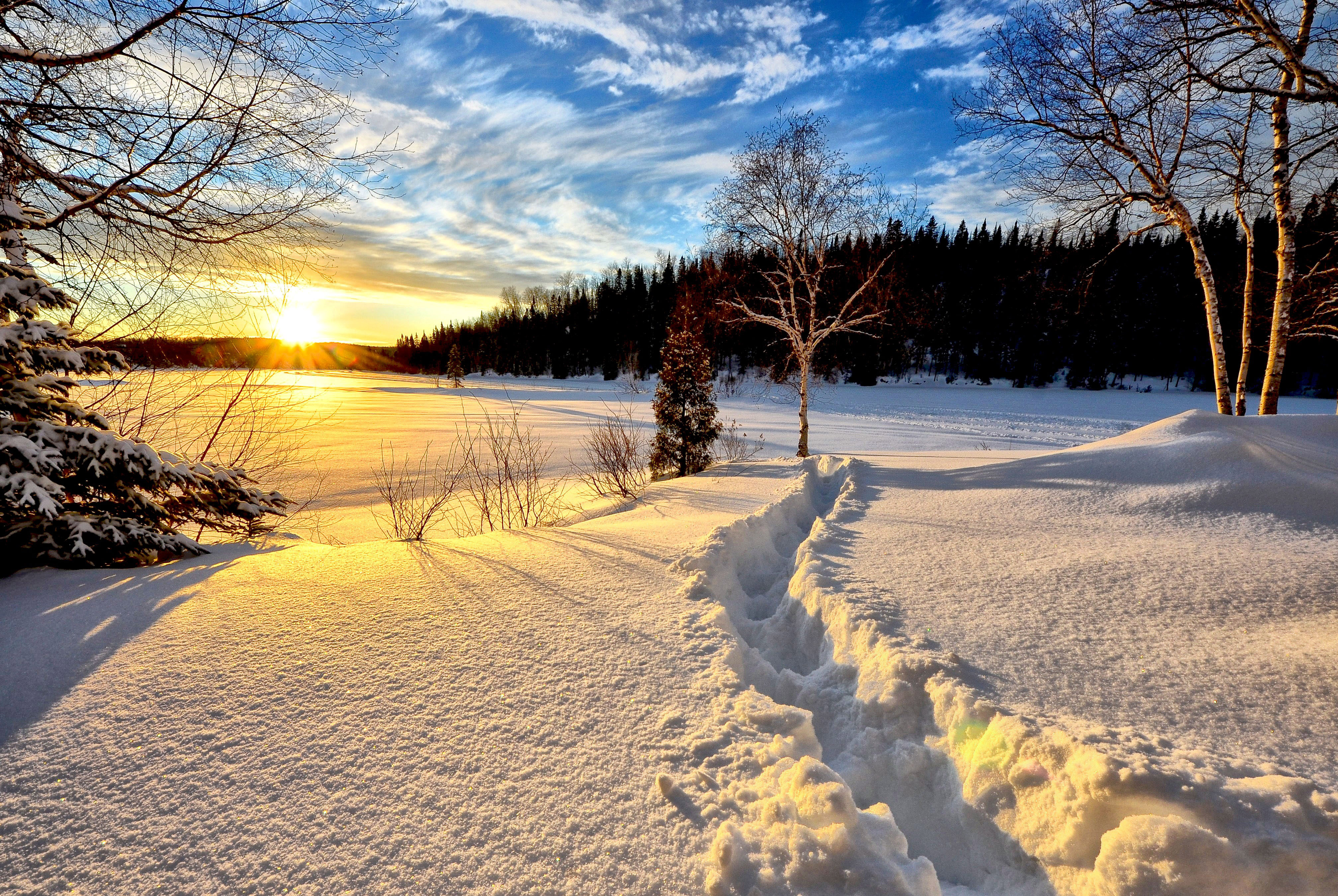 Winter Morning Sunrise Landscape Image Free Stock Photo Public