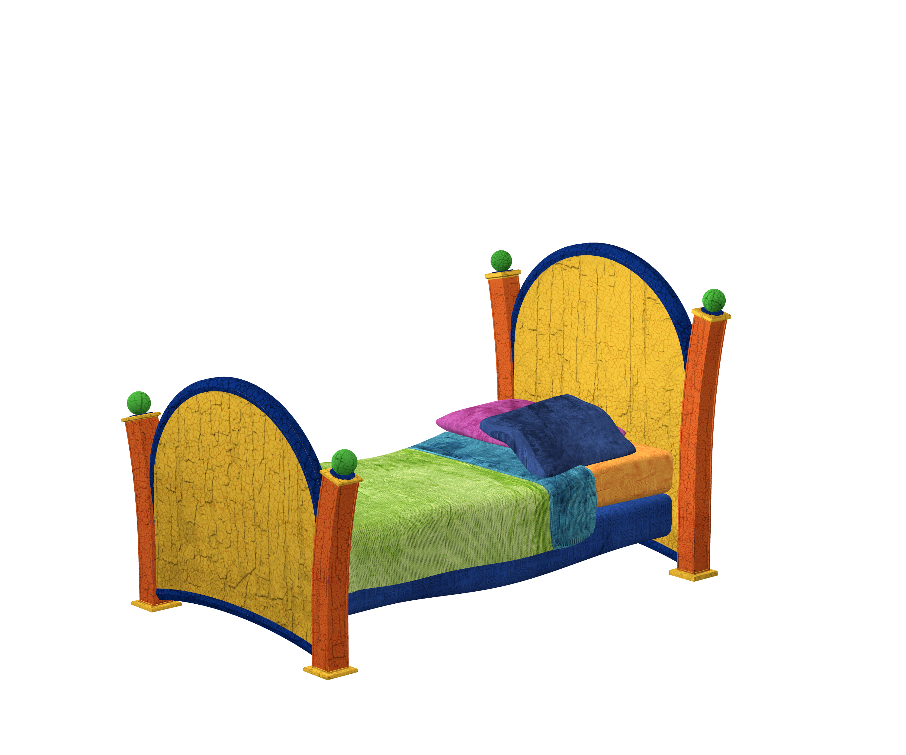 3D Model of a bed image - Free stock photo - Public Domain ...