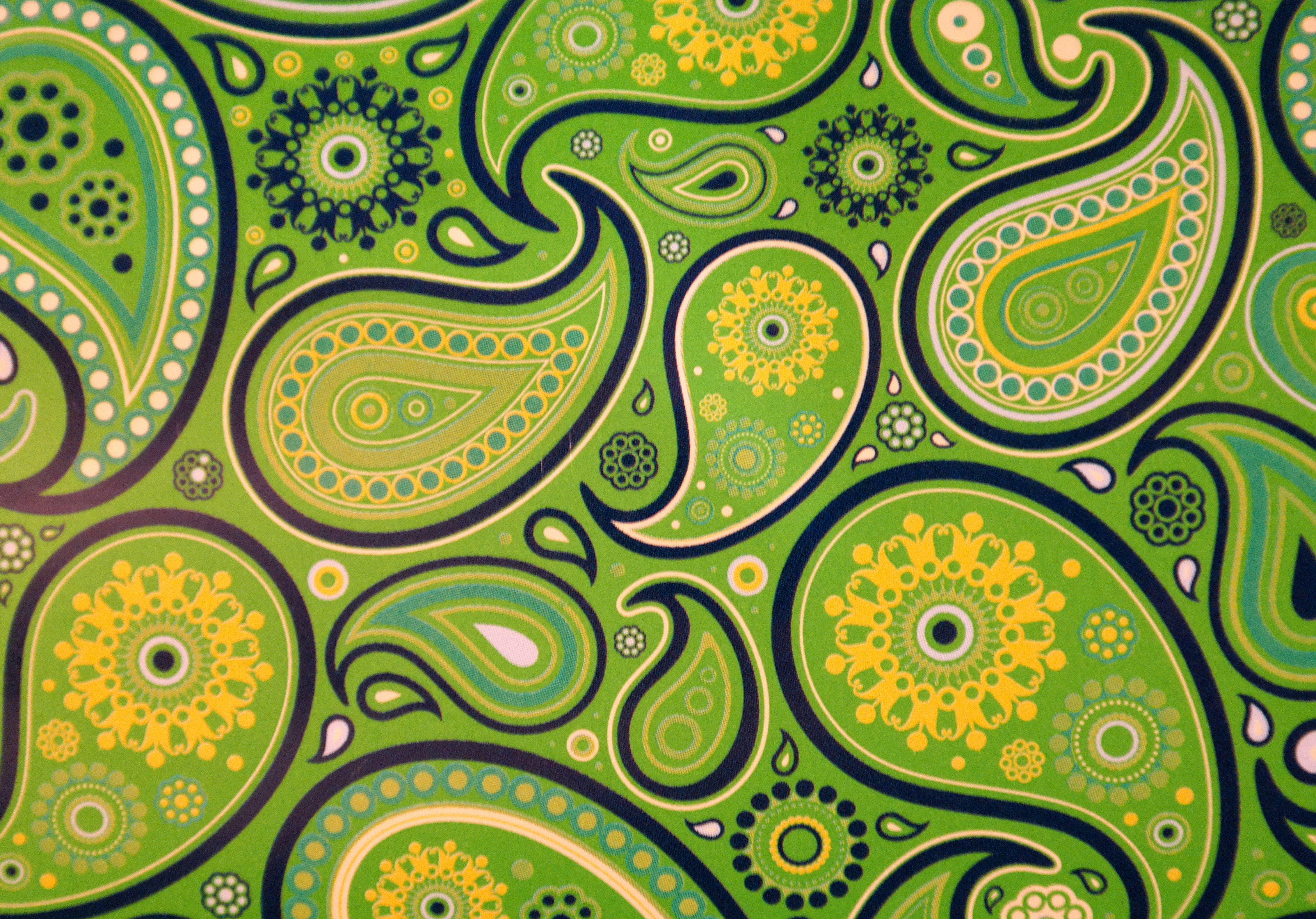 Green Pattern And Design Background Image Free Stock