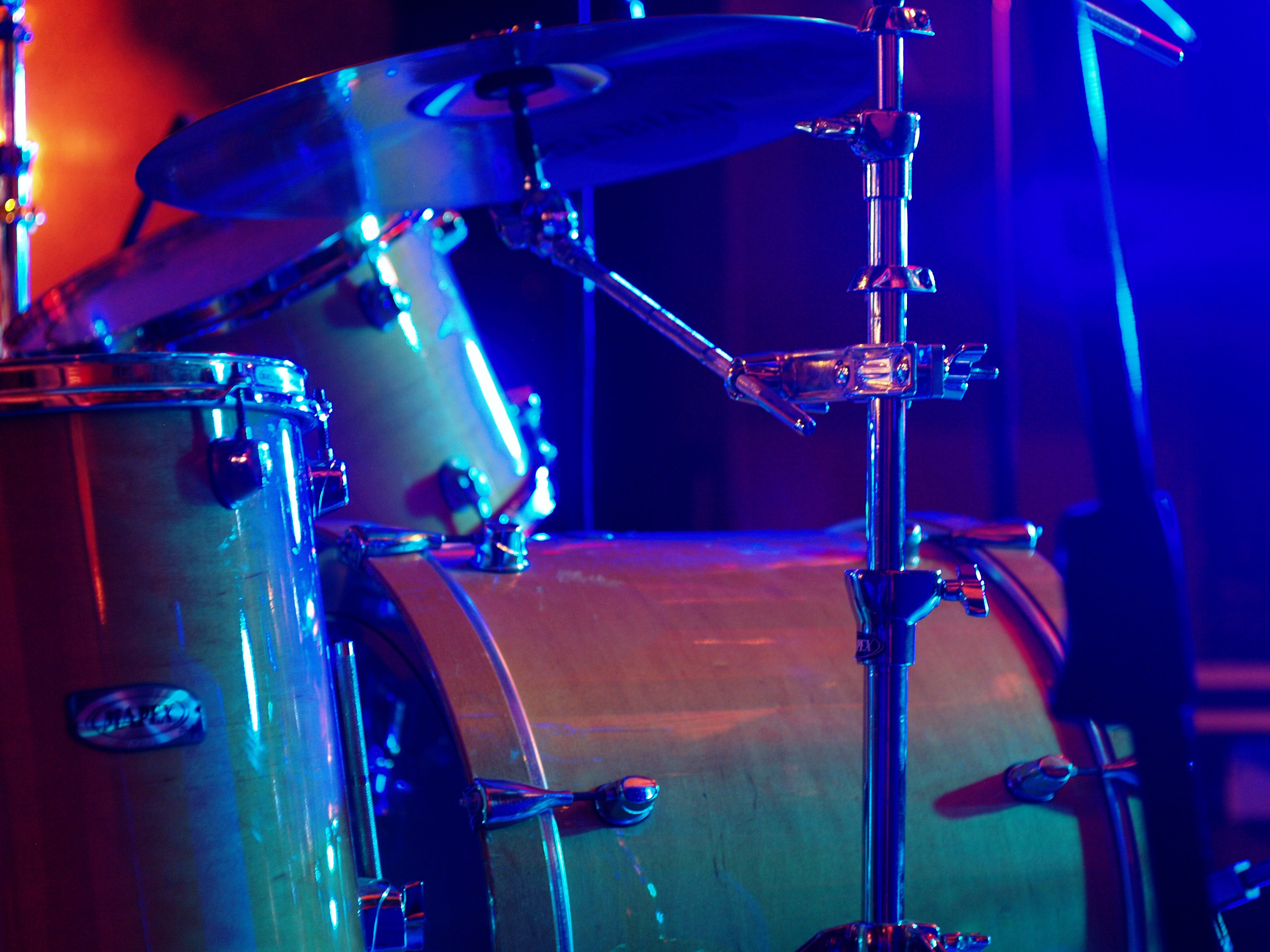 Drumset Instrument On Stage Image Free Stock Photo Public Domain