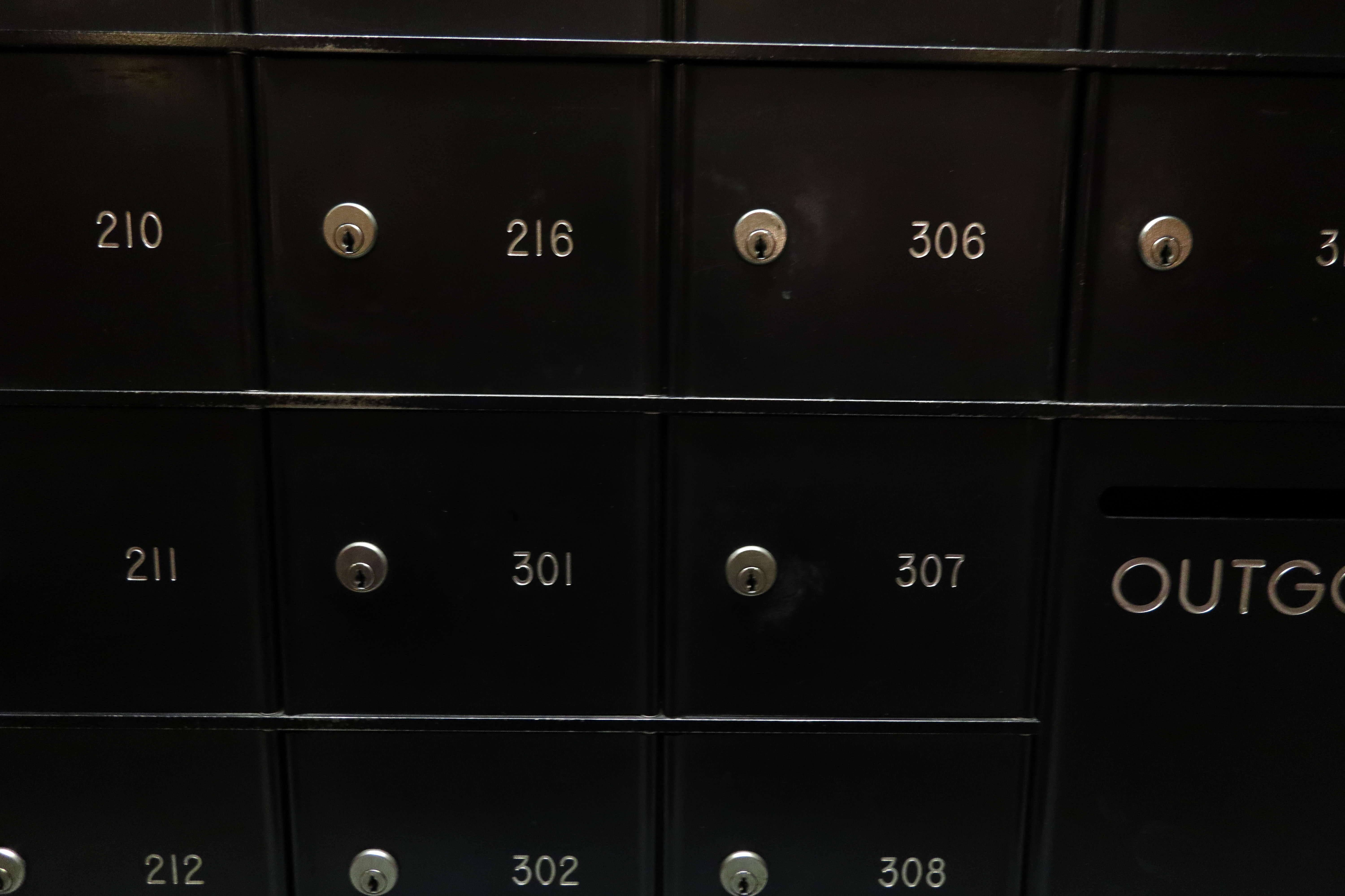 Mailbox numbers in apartment building image - Free stock photo ...