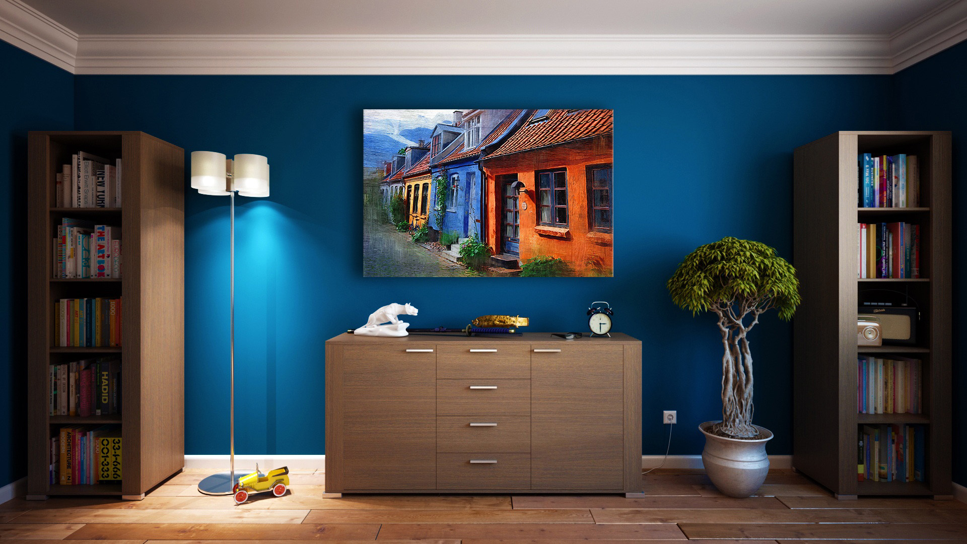 Room with painting on the wall image free stock photo - Interior painting and decorating ...
