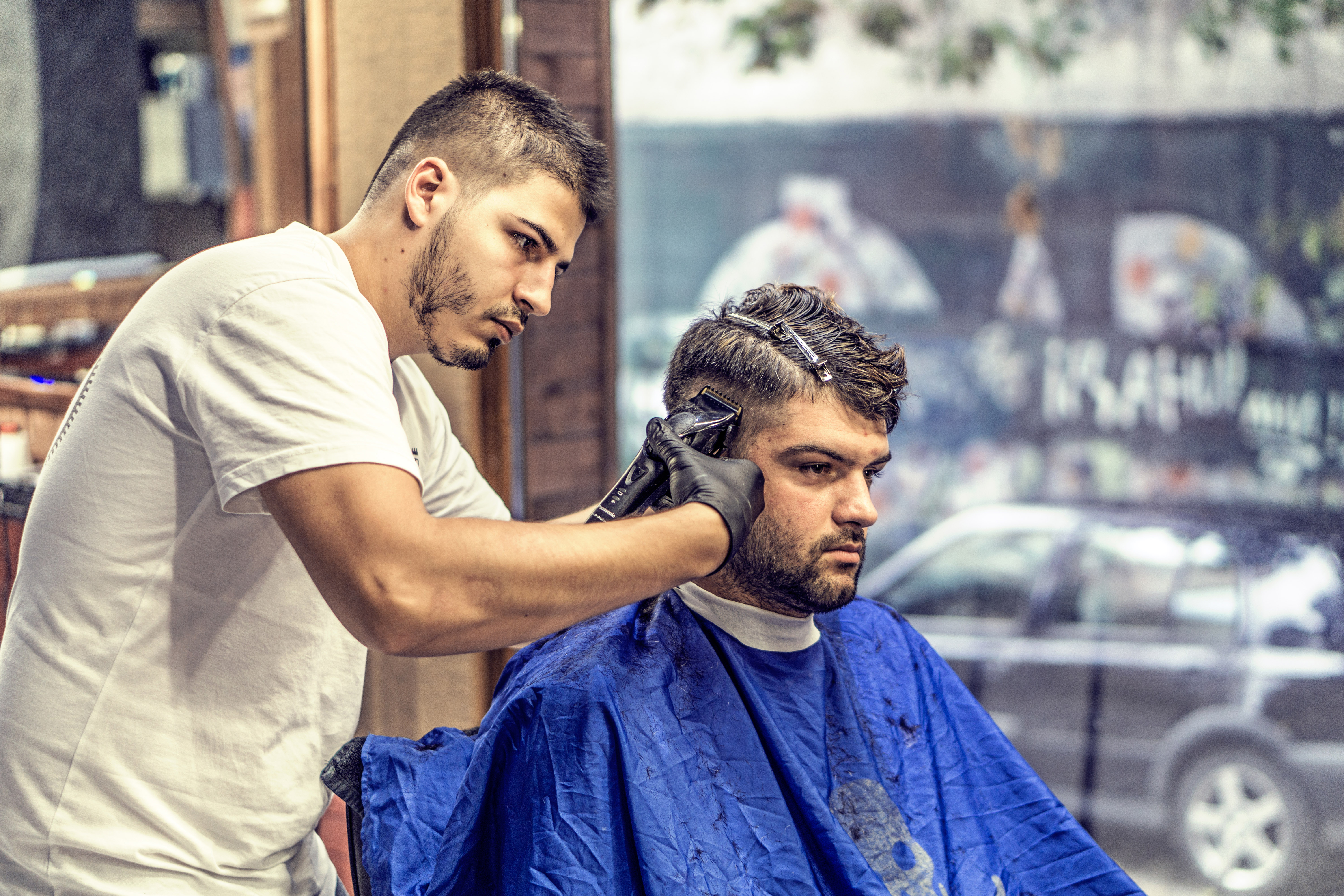 Free Stock Photo Of Barber Giving A Haircut Public Domain Photo - Hairstyle barbershop indonesia
