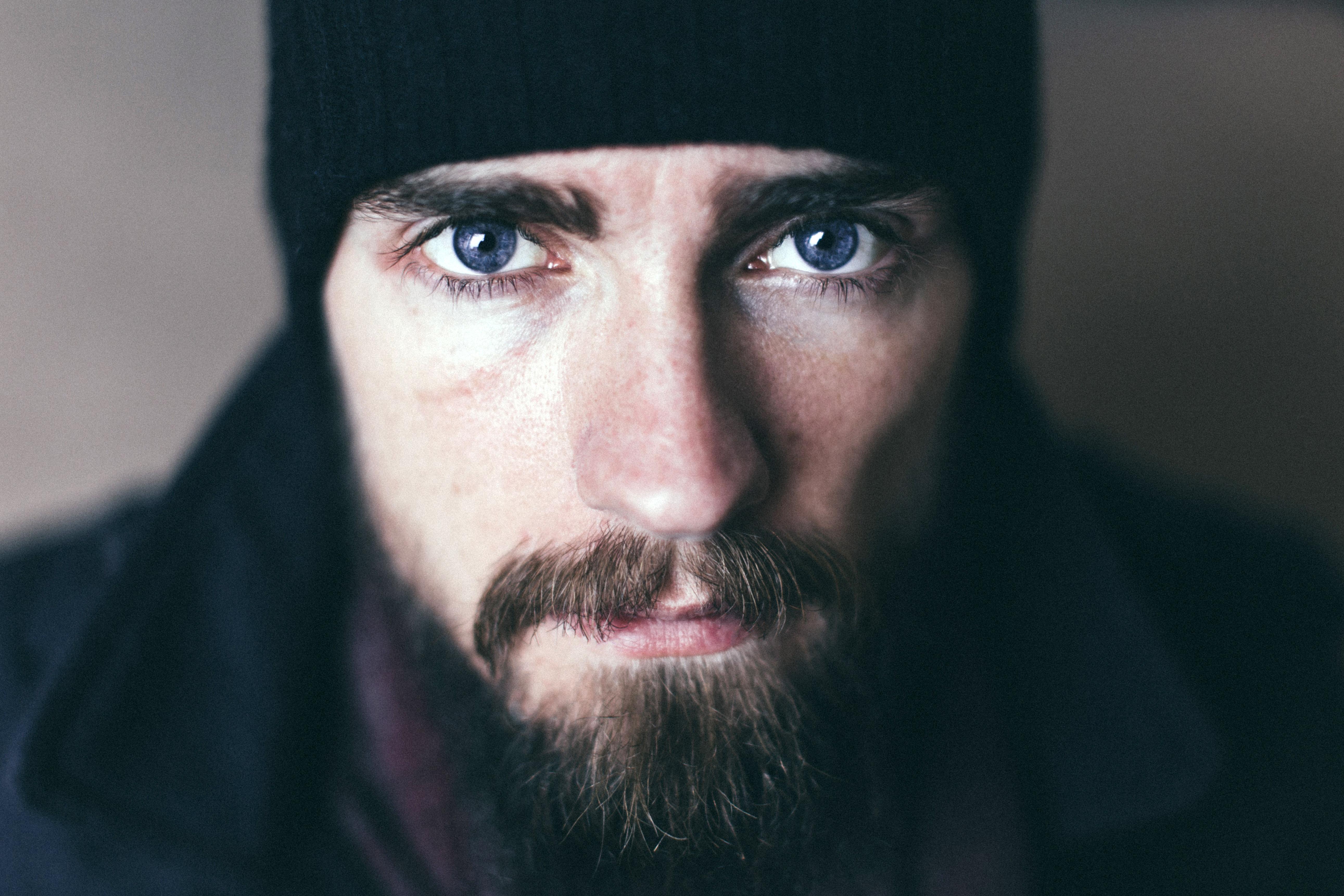 face of a bearded man image free stock photo public domain photo