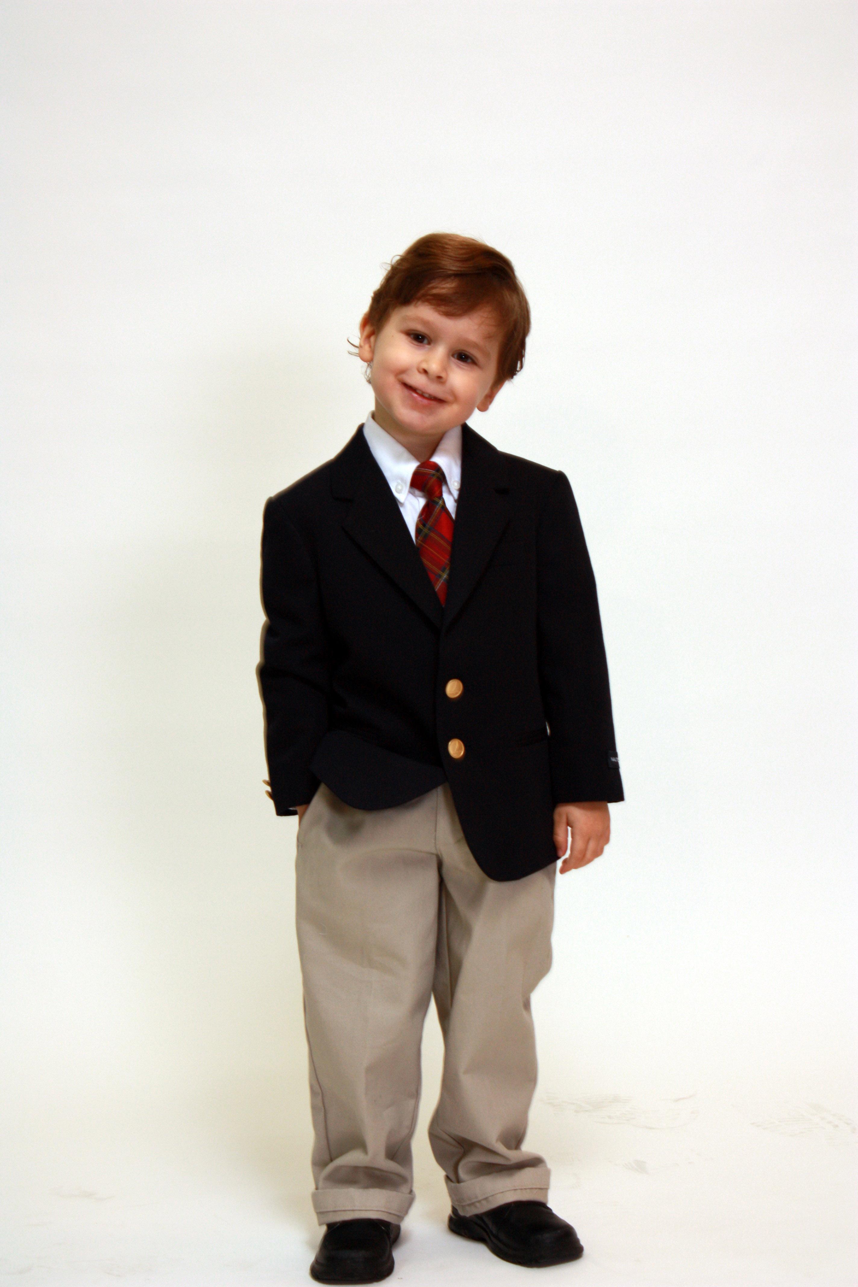 children wearing school uniform