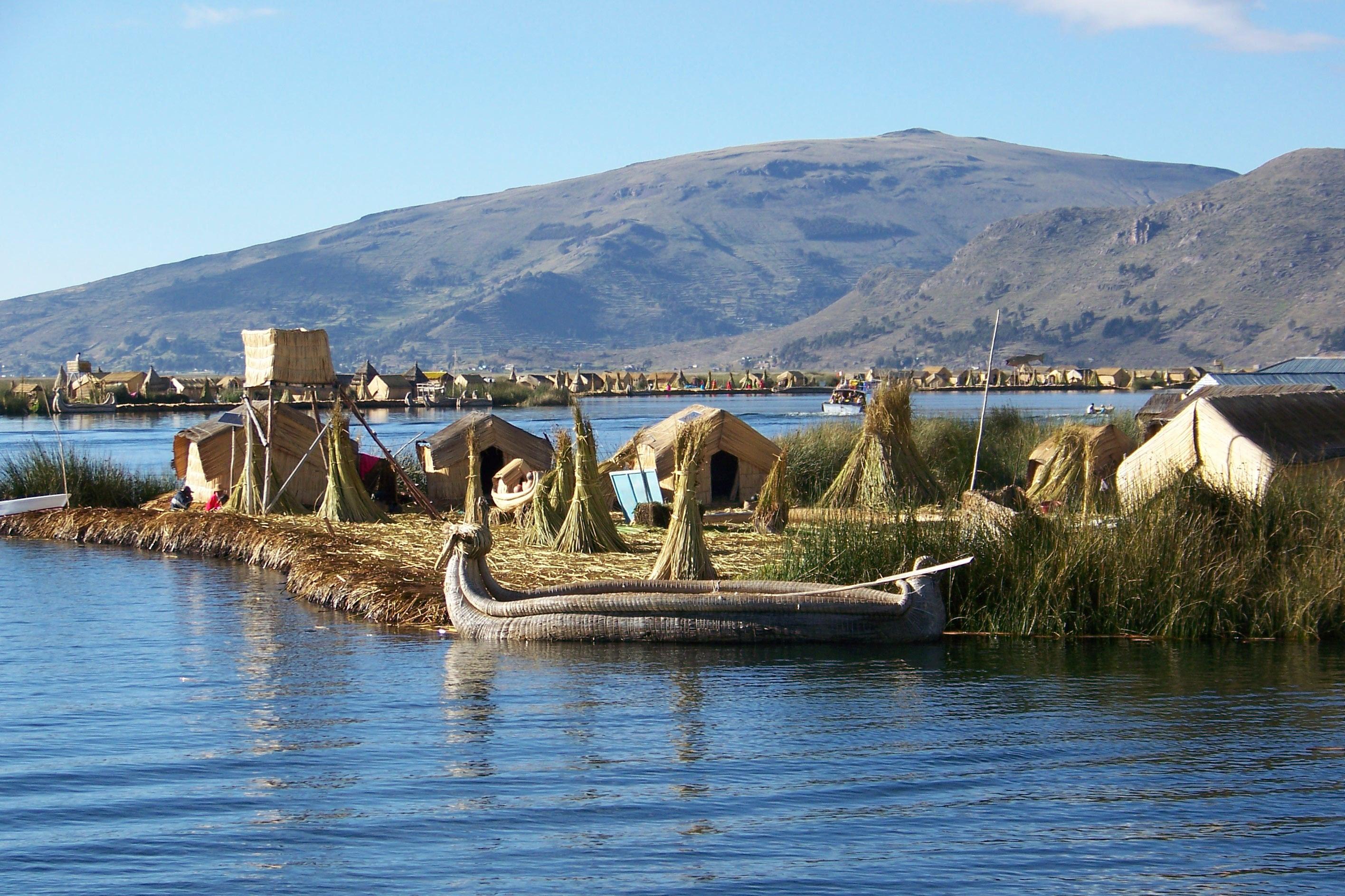 Image result for uros floating islands peru