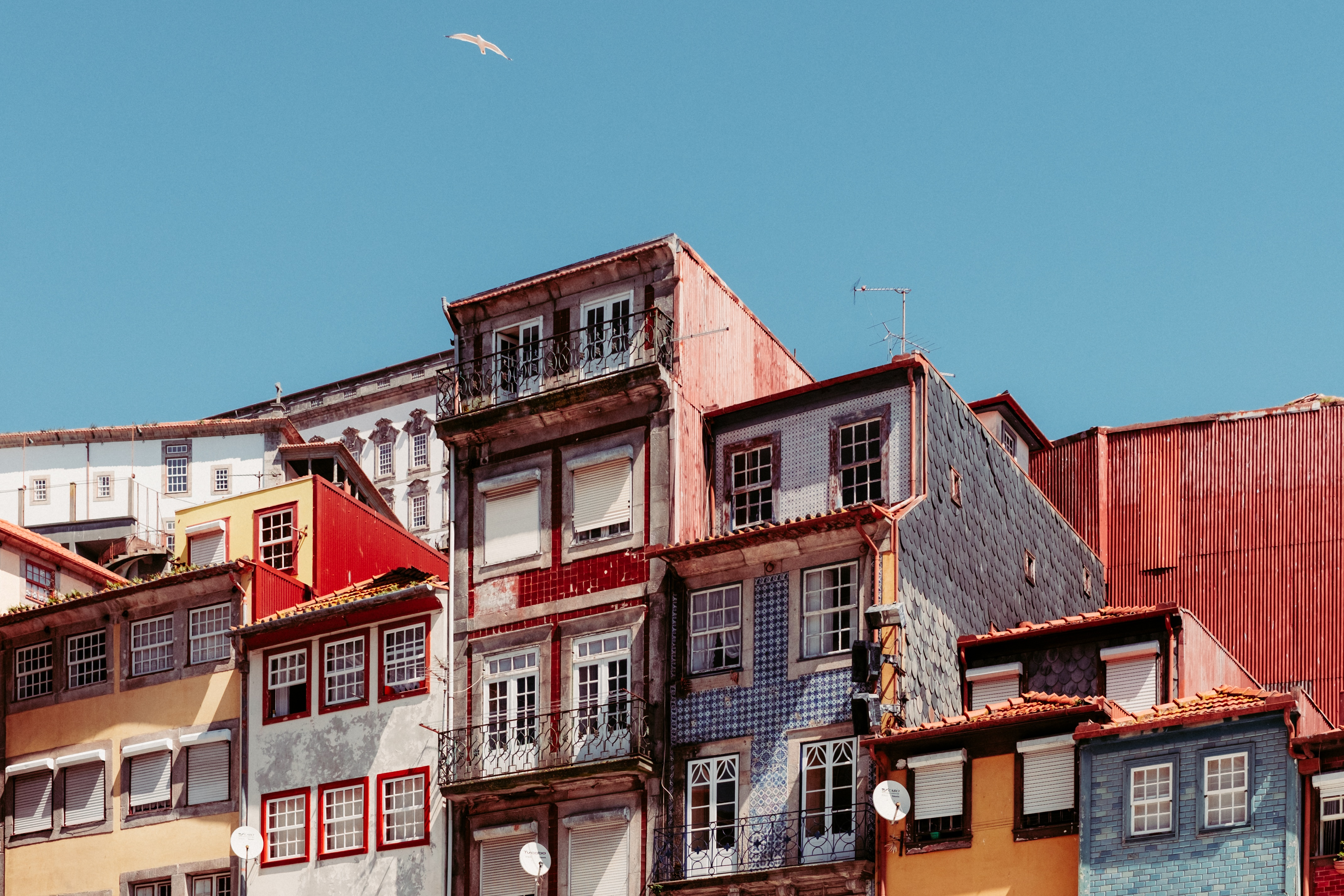 Houses and buildings in porto portugal image free stock for House structures pictures