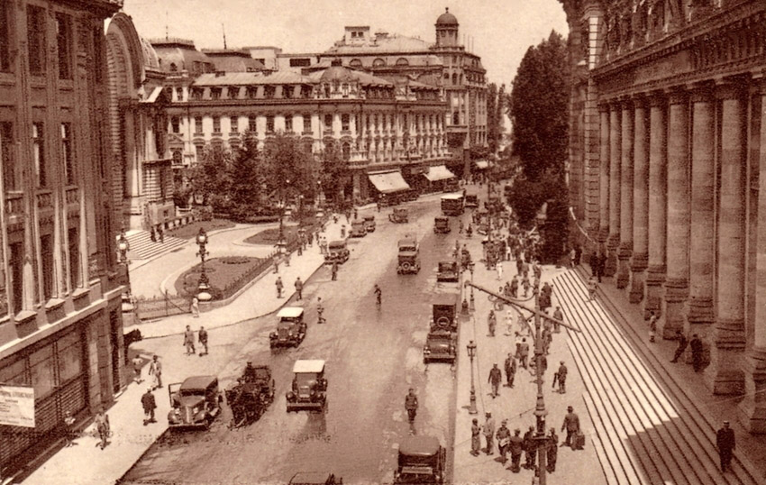 Victory Avenue In 1940 In Bucharest Romania Image Free