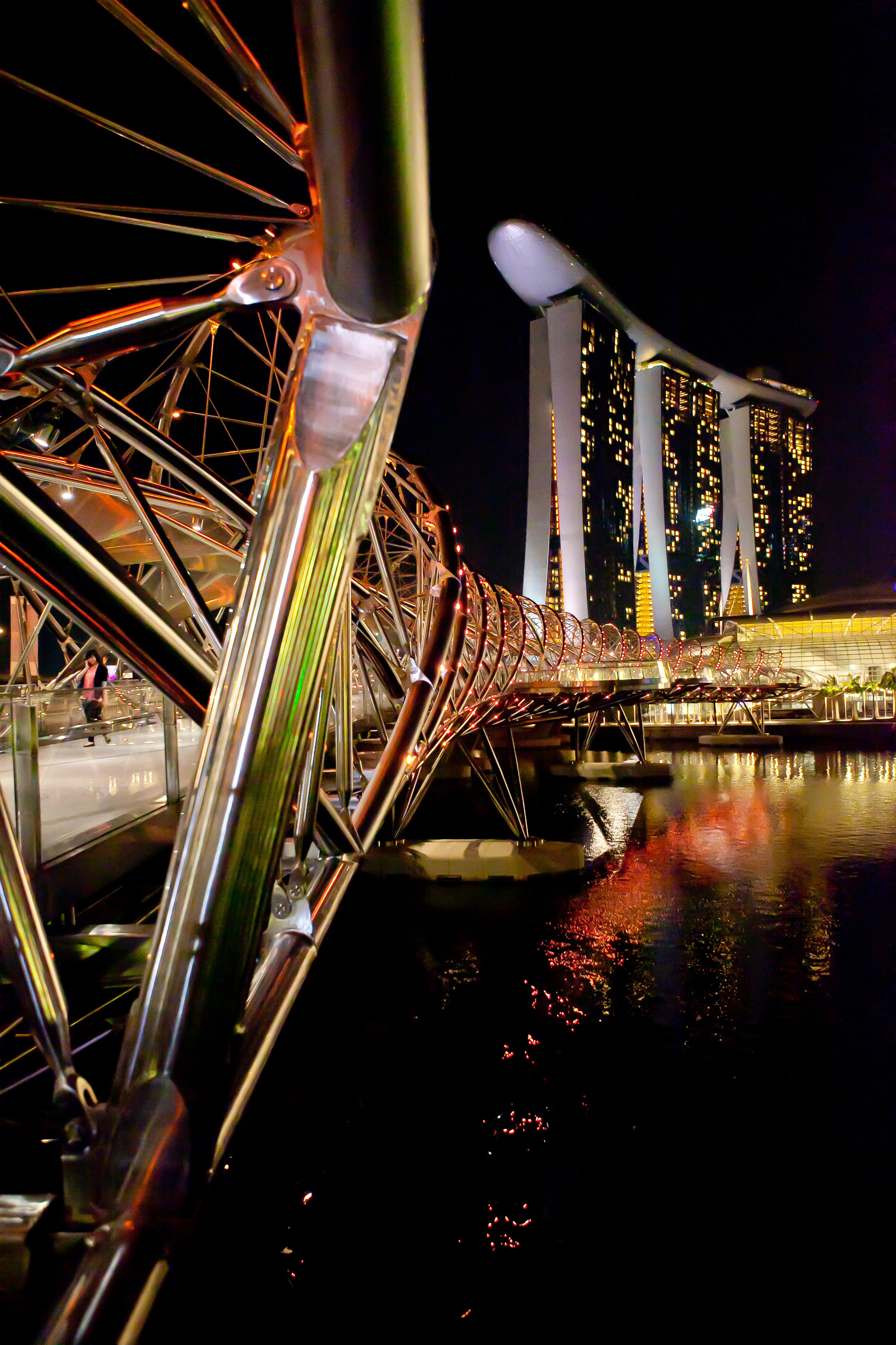 Stock Chart Singapore: Bridge architecture at Night in Singapore - Free Public Domain ,Chart