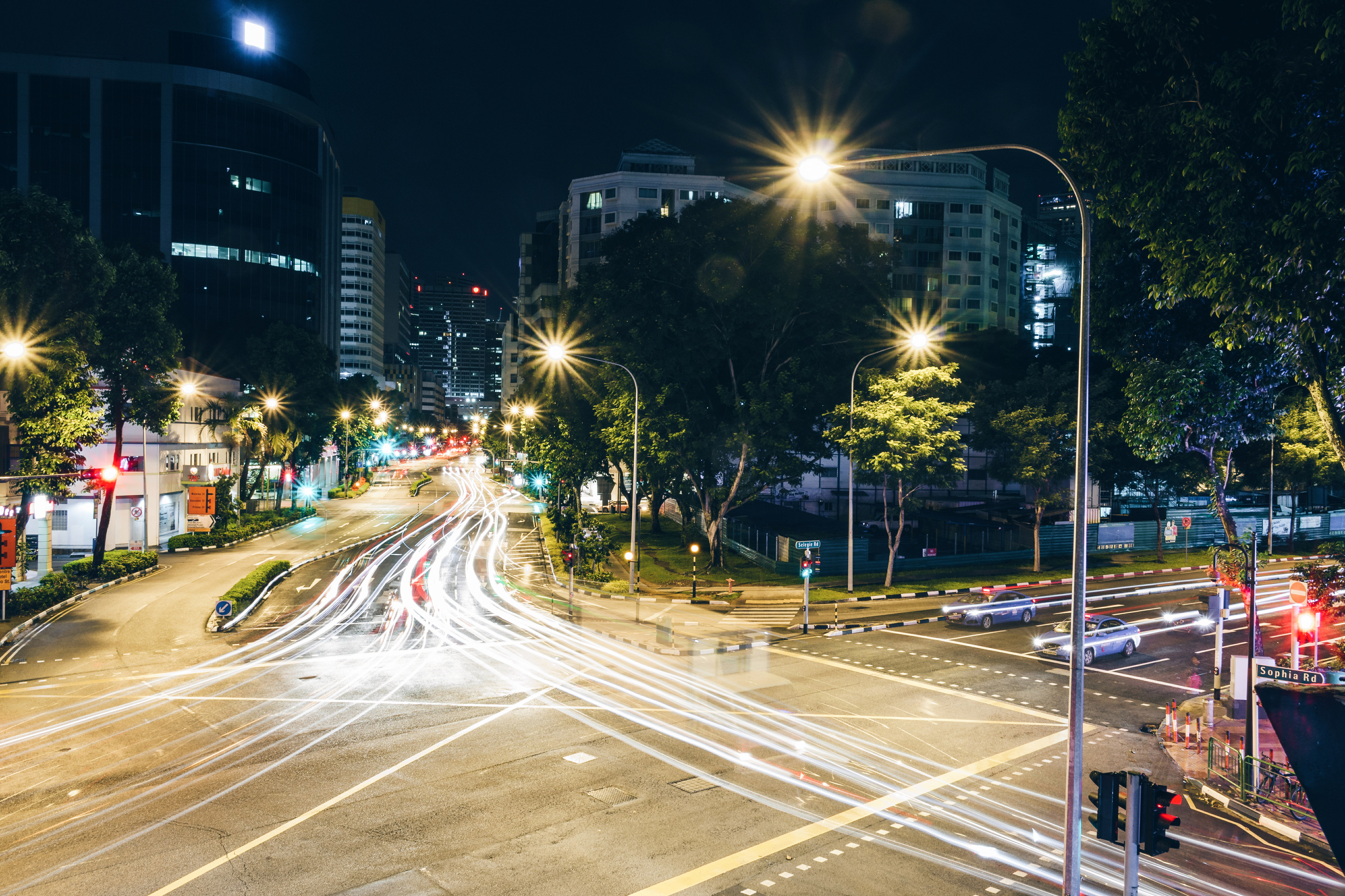 Stock Chart Singapore: Night Time Time-Lapse of Singapore Streets - Free Public Domain ,Chart