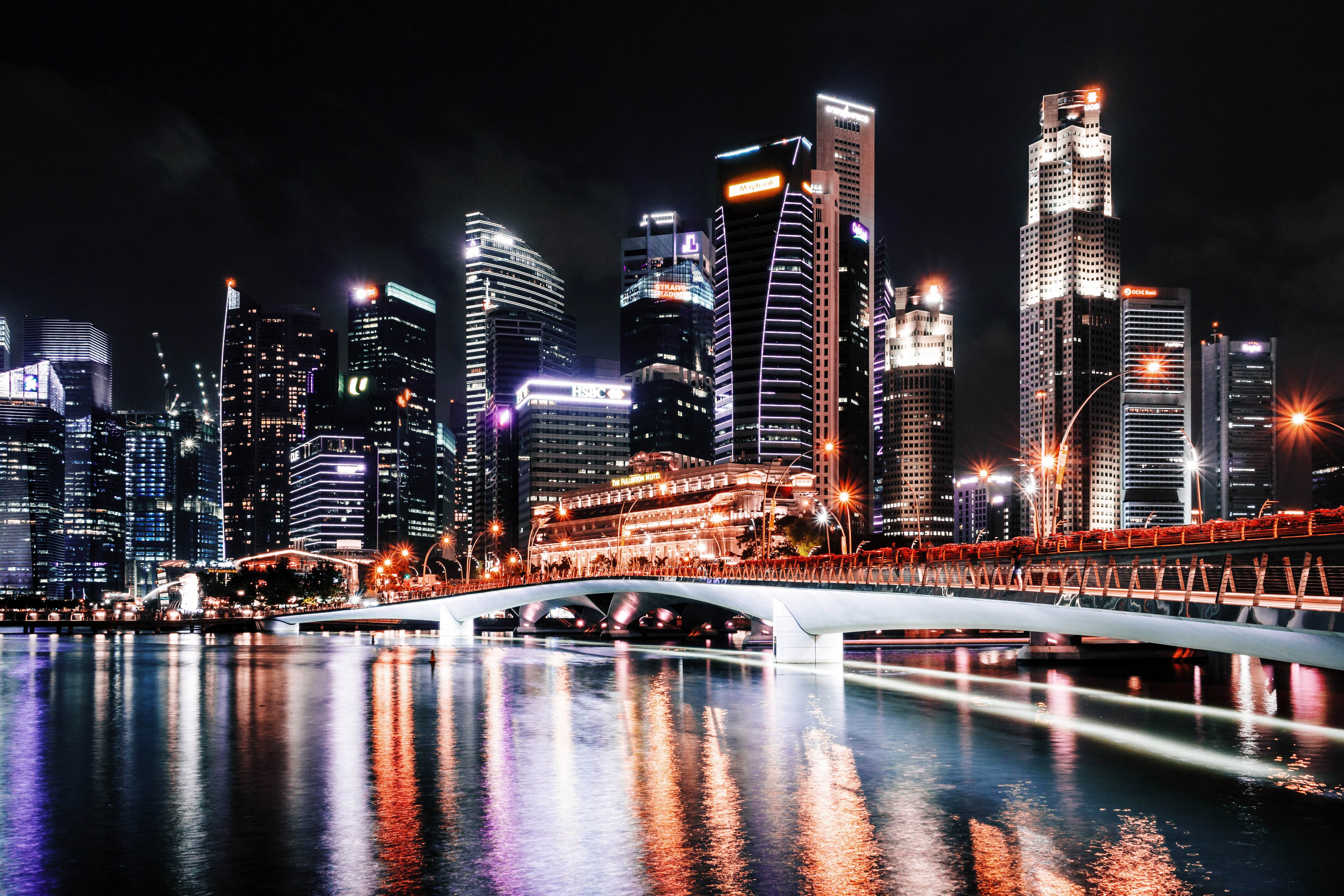 Stock Chart Singapore: Towers bridge skyscrapers and Cityscape in Singapore - Free ,Chart