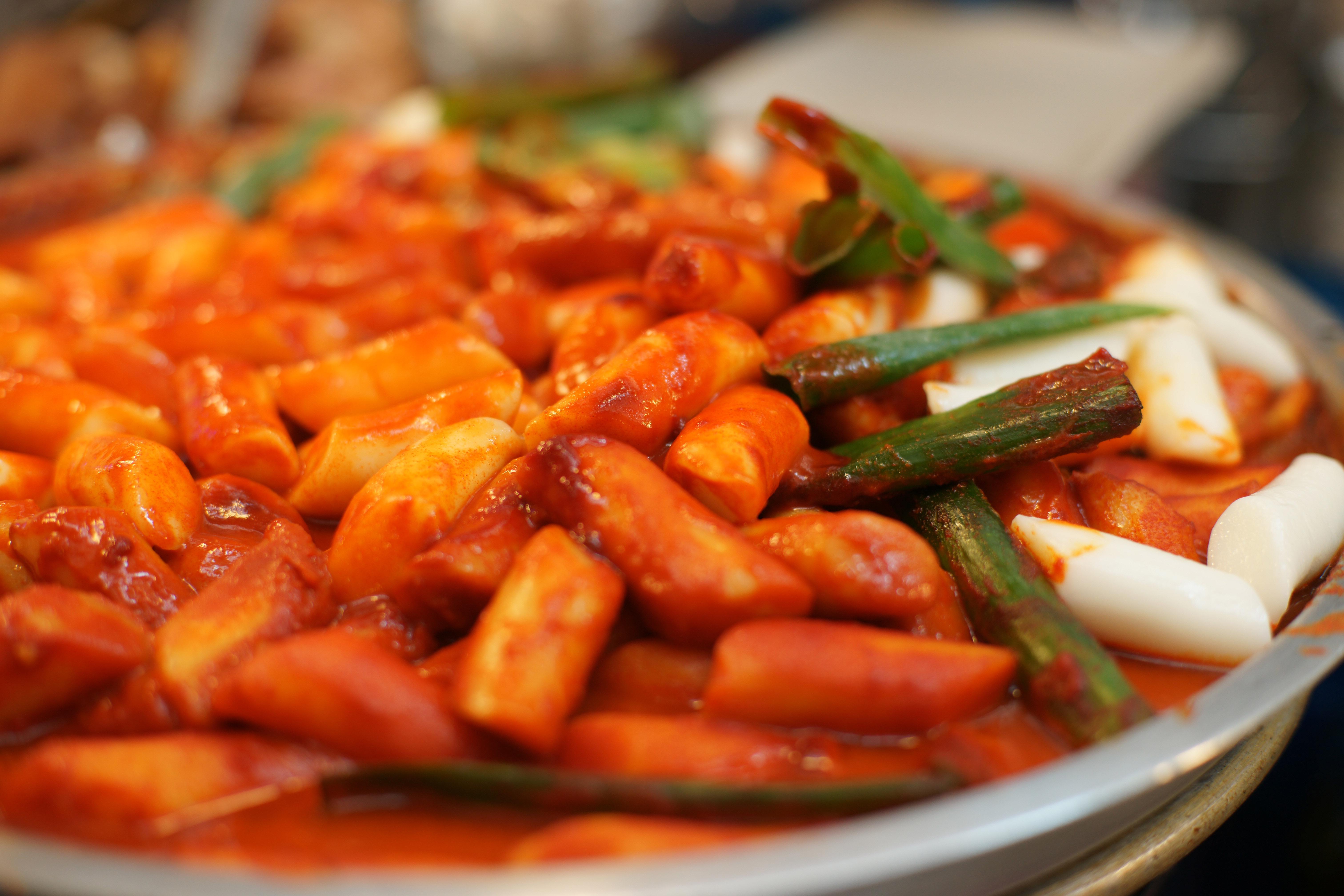 Korean Rice Cake Recipe Gochujang: Tteokbokki, Rice Cakes With Spicy Gochujang Sauce In South