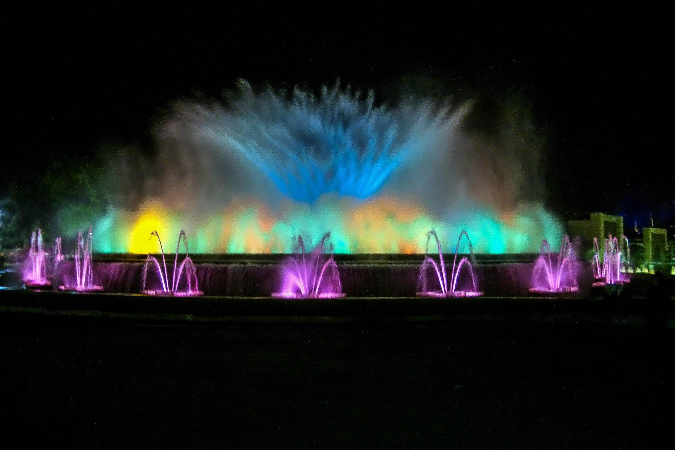 Magic Fountain Of Montjuic In Barcelona Spain Image